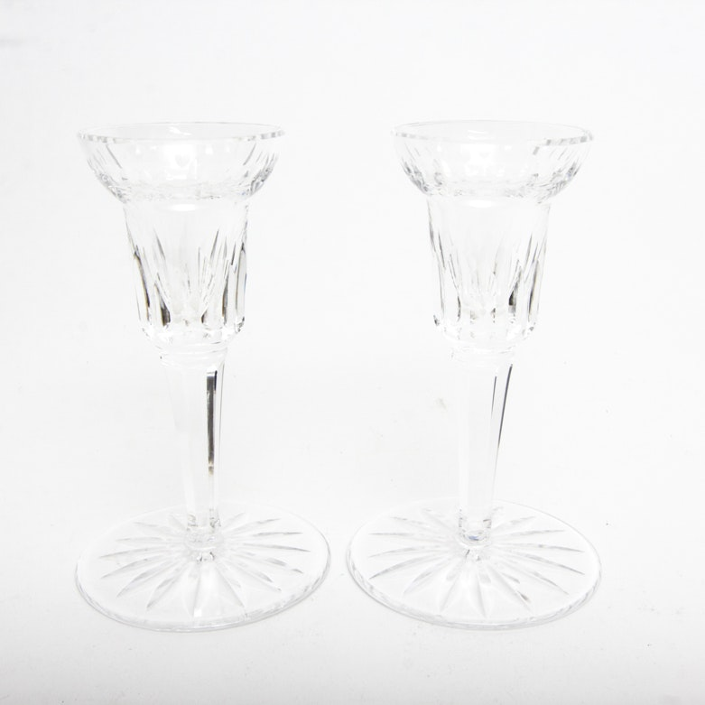 Pair of Waterford Crystal Candlesticks
