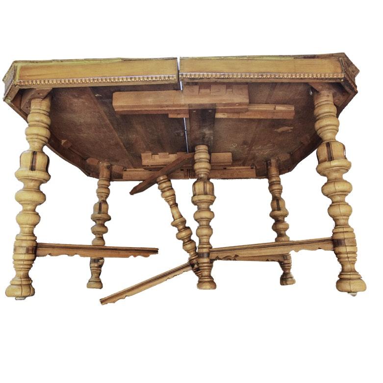 Wooden Turned Leg Table