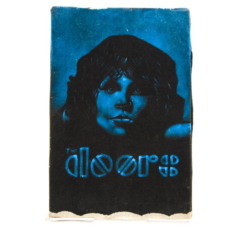 Iconic Image of Jim Morrison from The Doors on Velvet