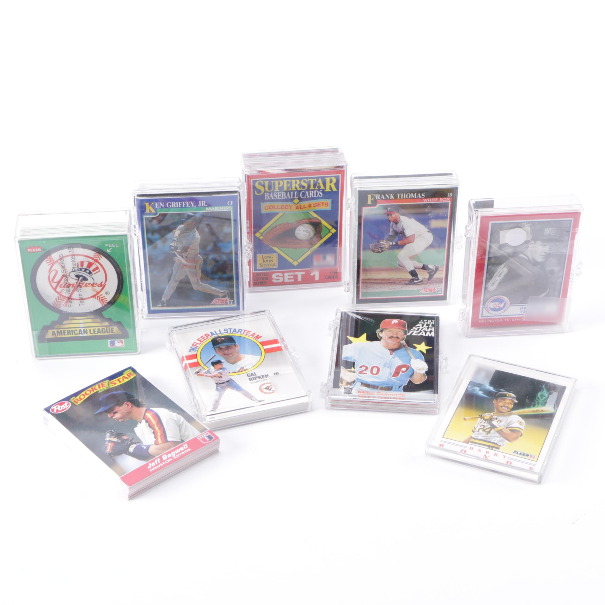 1980s and 1990s Baseball Cards Including Barry Bonds