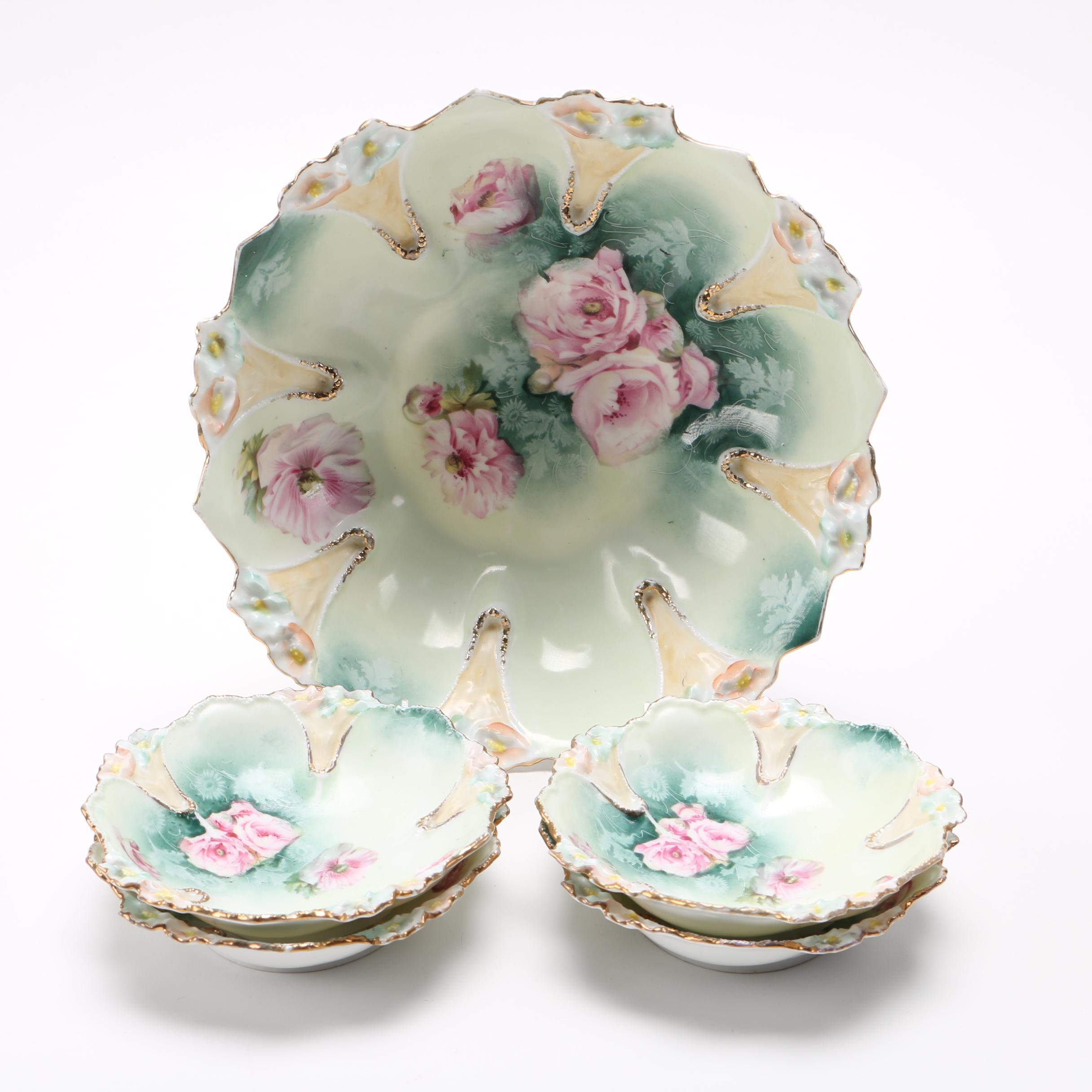 R S Prussia Berry Bowl Set
