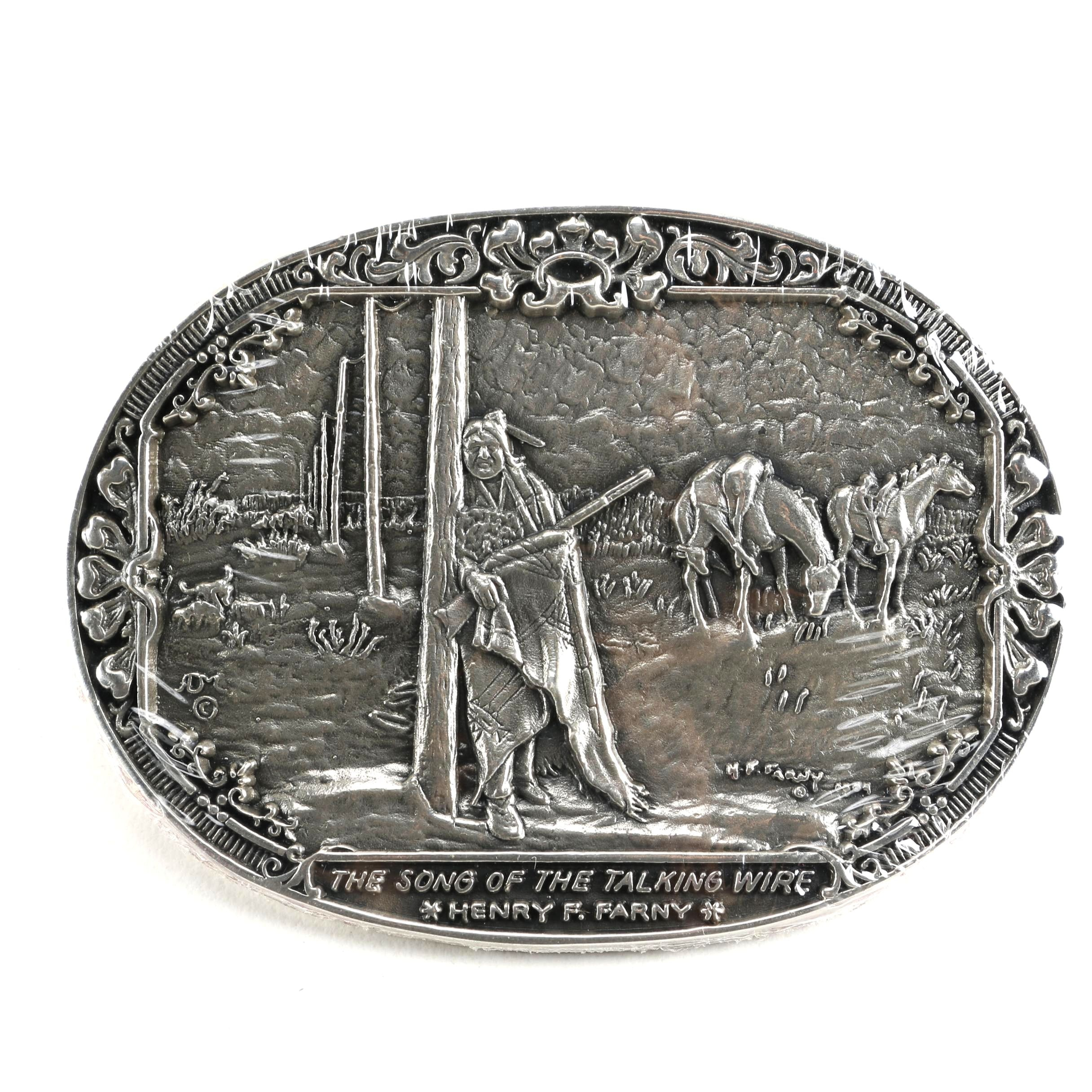 Sterling Silver Belt Buckle from Visions of the Old West
