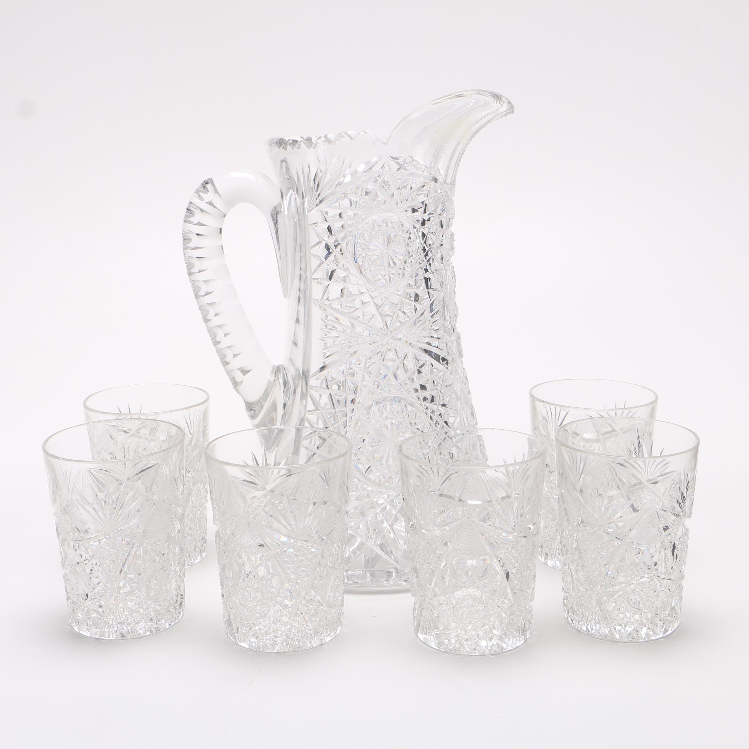 Crystal Pitcher and Tumbler Set