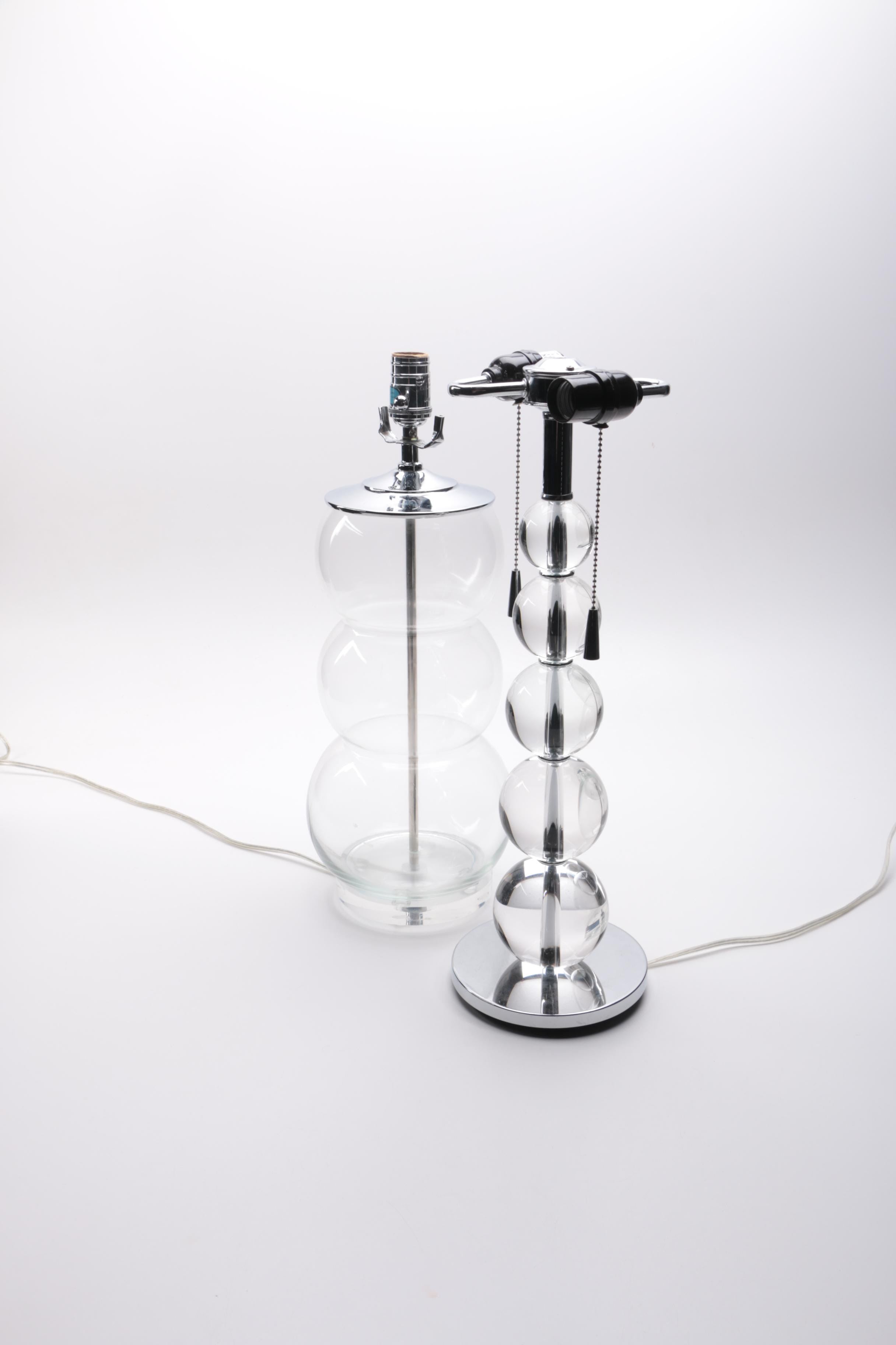 Orb Style Glass Table Lamps