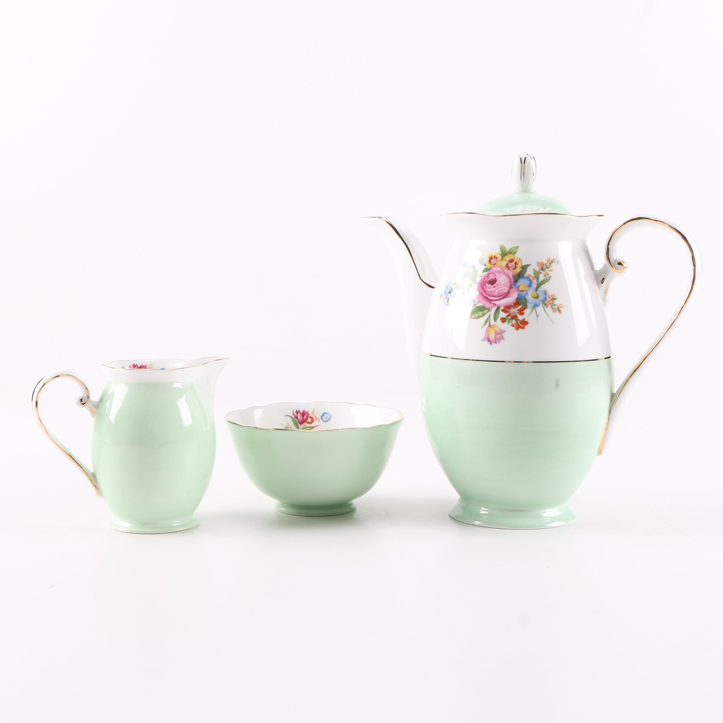 Royal Grafton Porcelain Coffee Pot, Creamer and Sugar Bowl