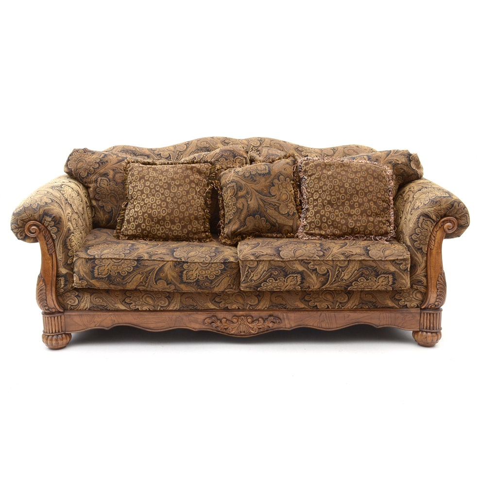 Paisley Upholstered Sofa
