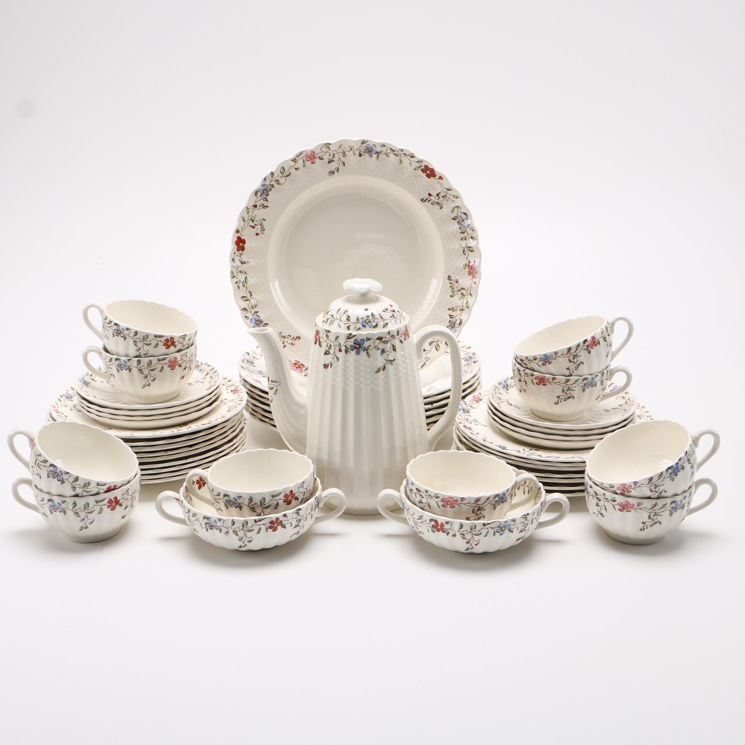Spode White Ceramic Dinnerware Set
