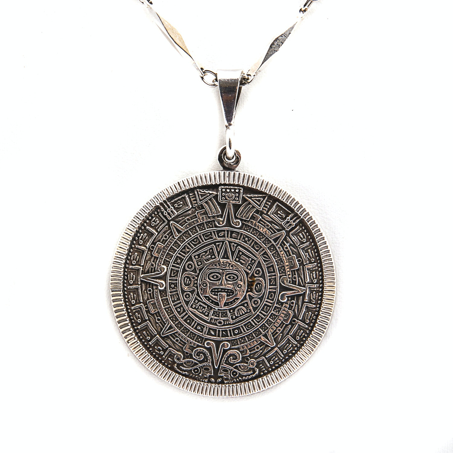 Necklace with Sterling Silver Medallion Pendant