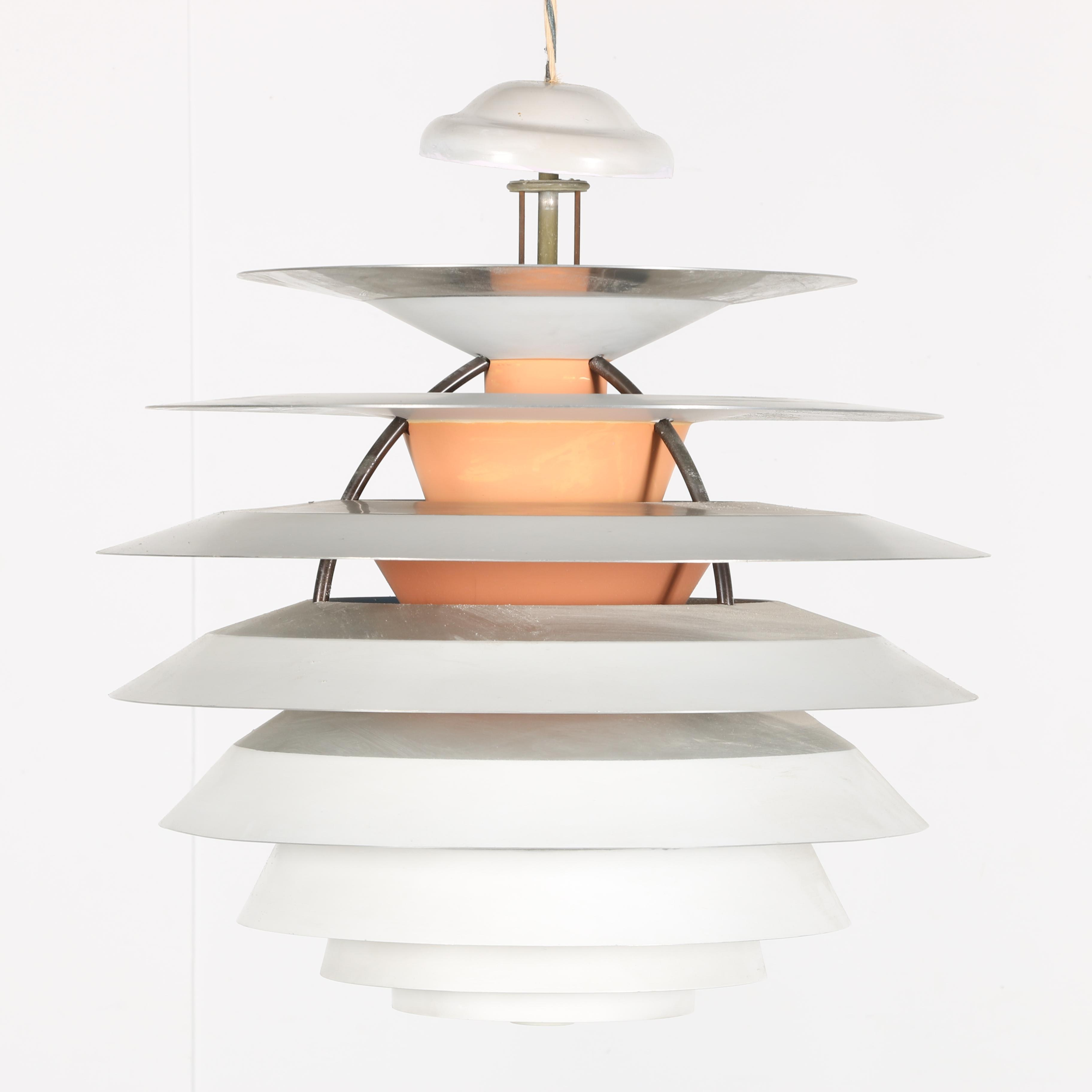 White Layered Style Ceiling Light