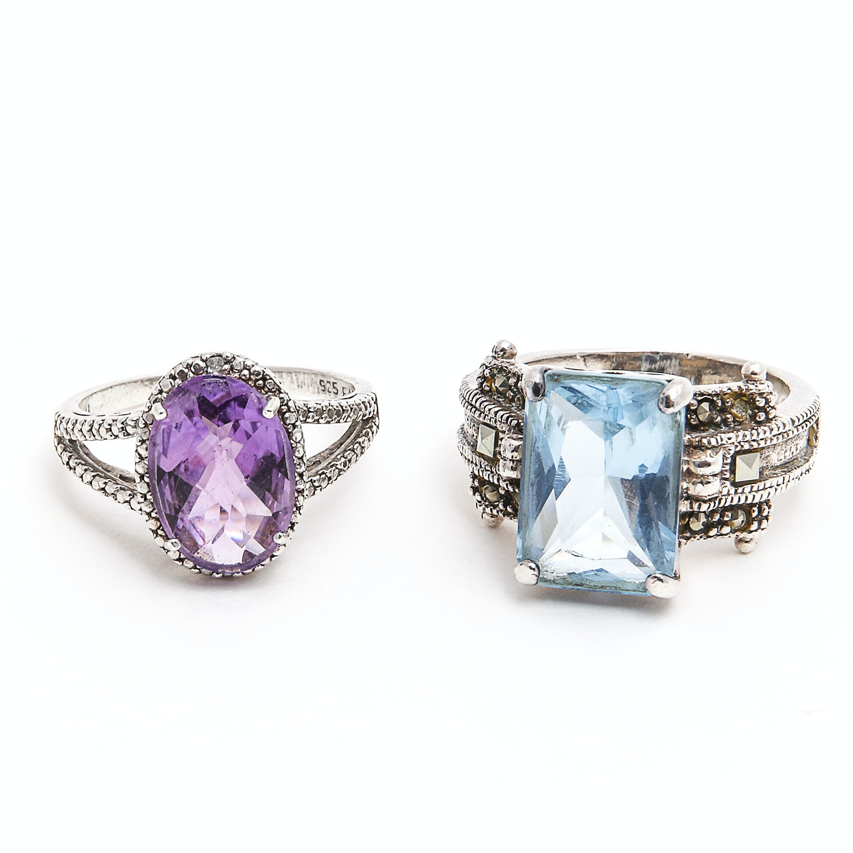 Pair of Sterling Rings