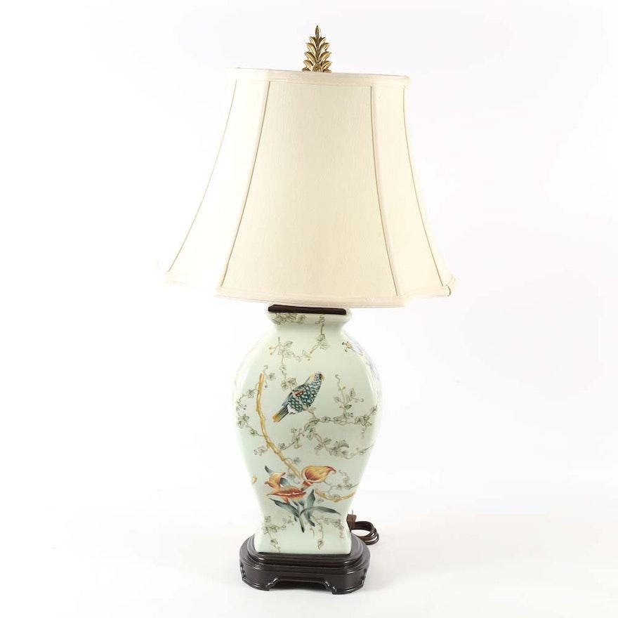 Bradburn Gallery Asian Inspired Porcelain Lamp Ebth