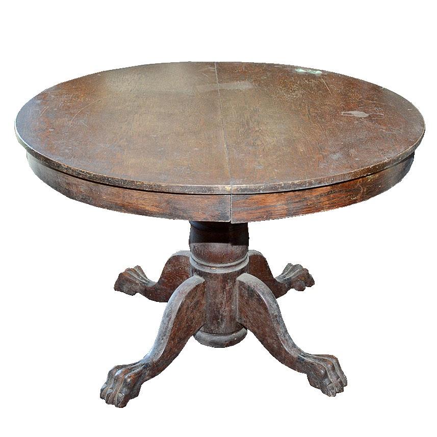 Antique Oak Pedestal Dining Table EBTH