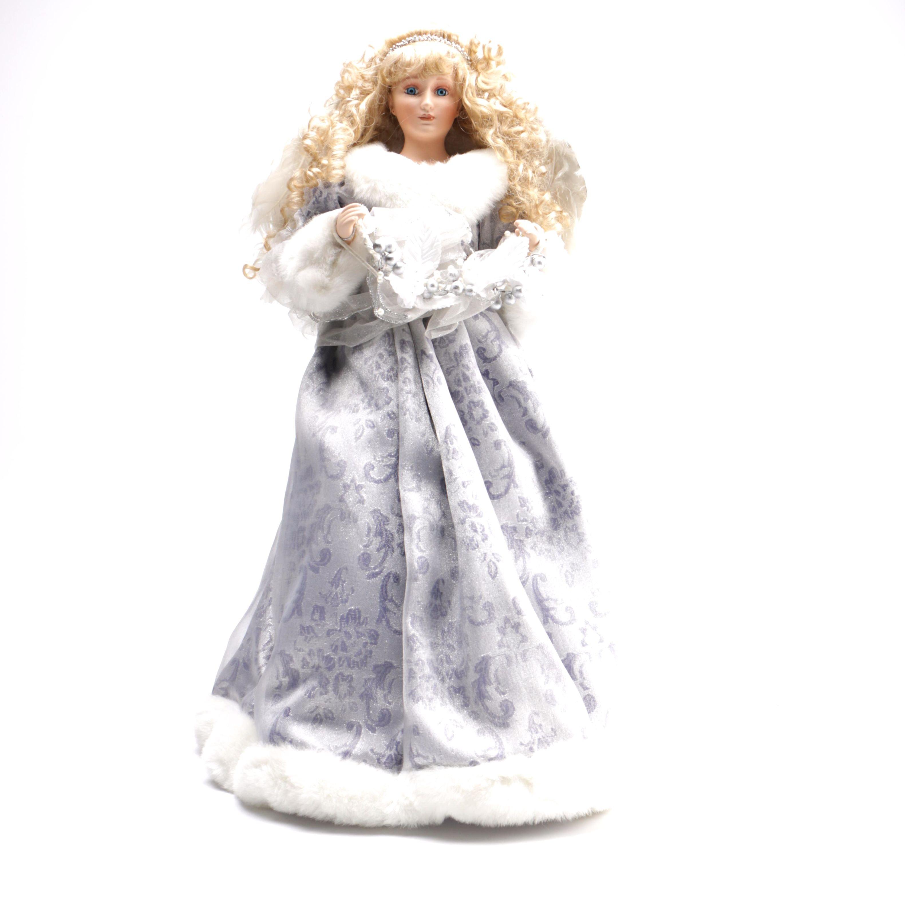 Porcelain Angel Tree Topper Doll