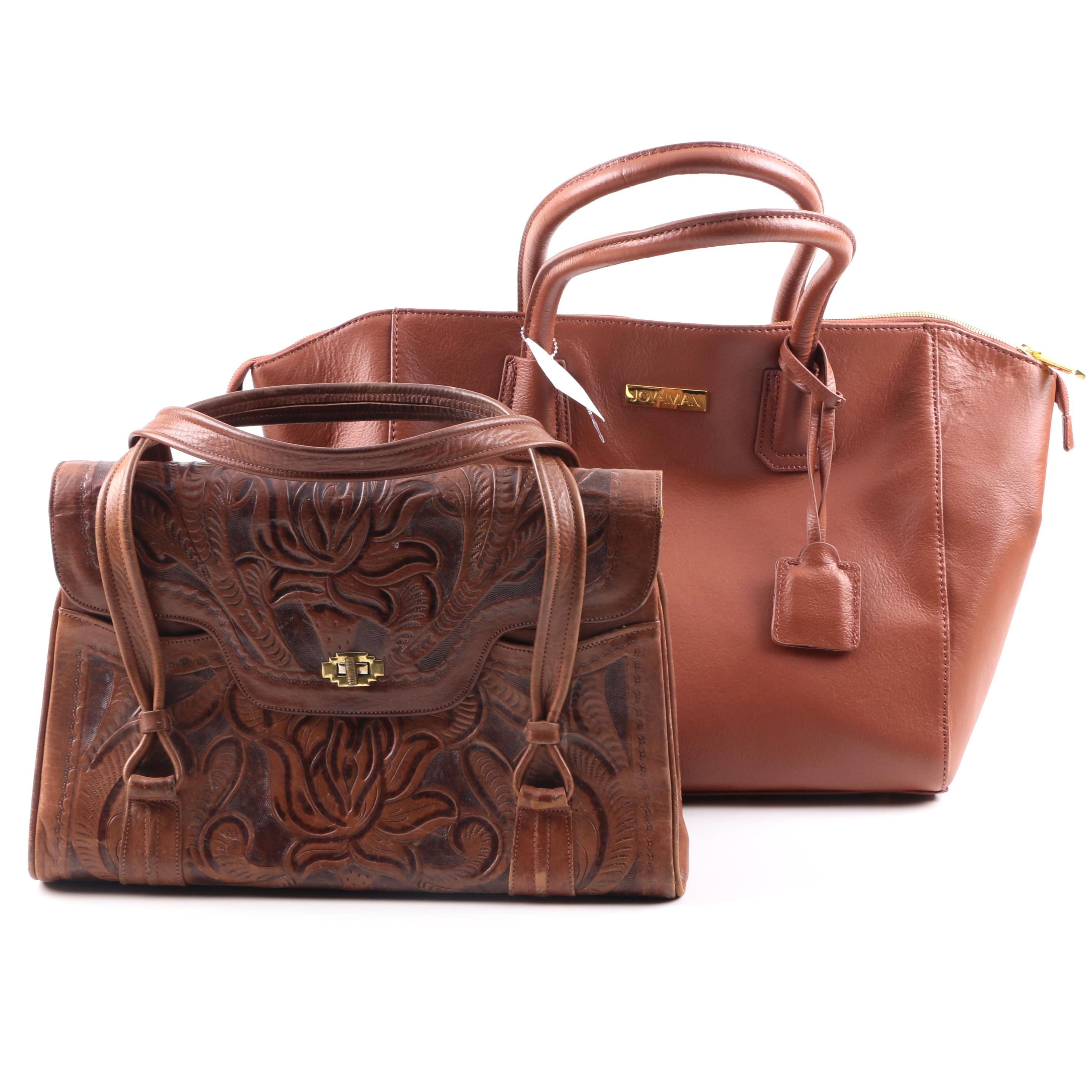 Leather Handbags Including Avelar Embossed Leather and Joy & Iman