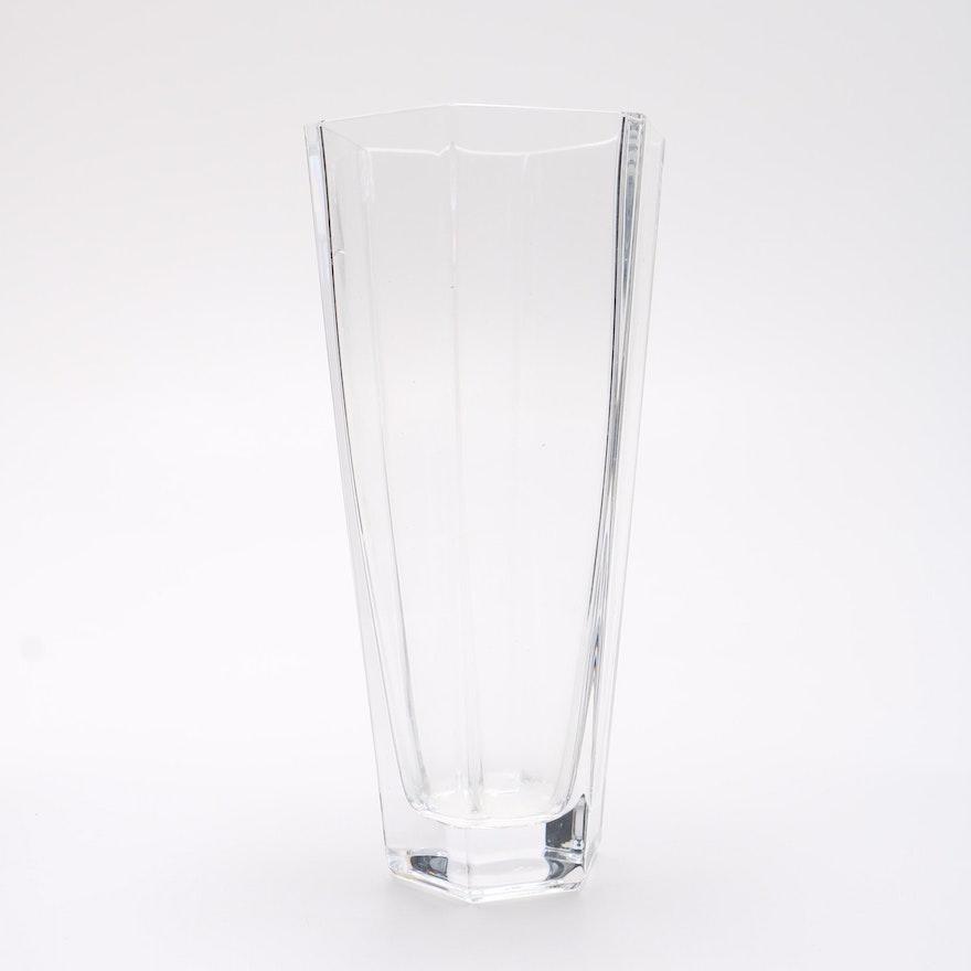 Tiffany And Co Frank Lloyd Wright Crystal Vase Ebth