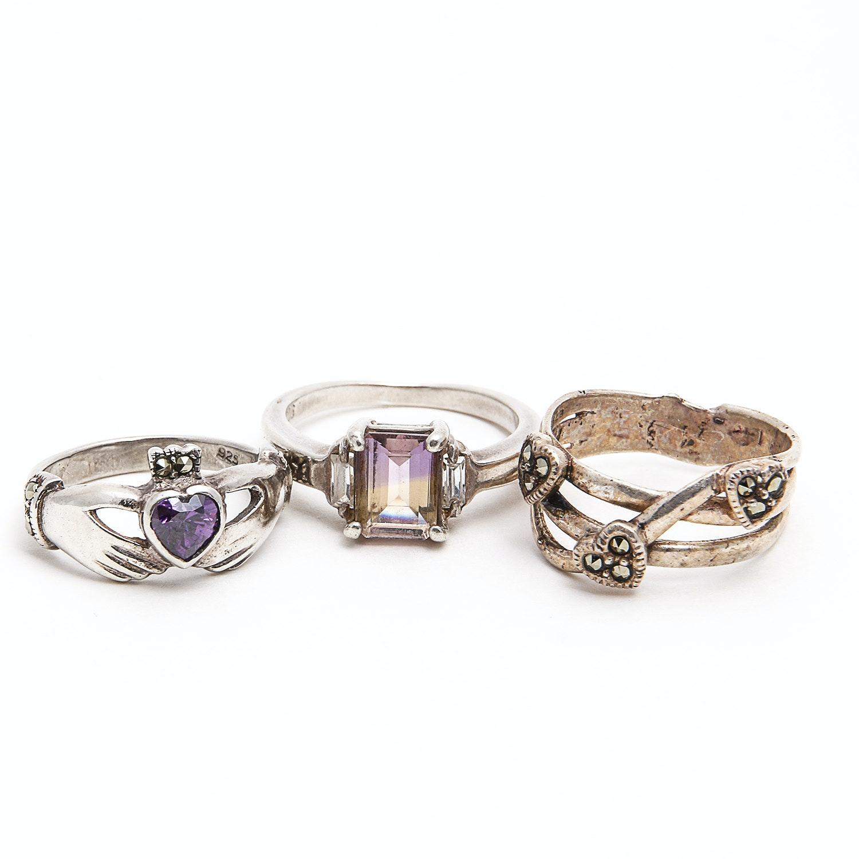 Three Sterling Rings