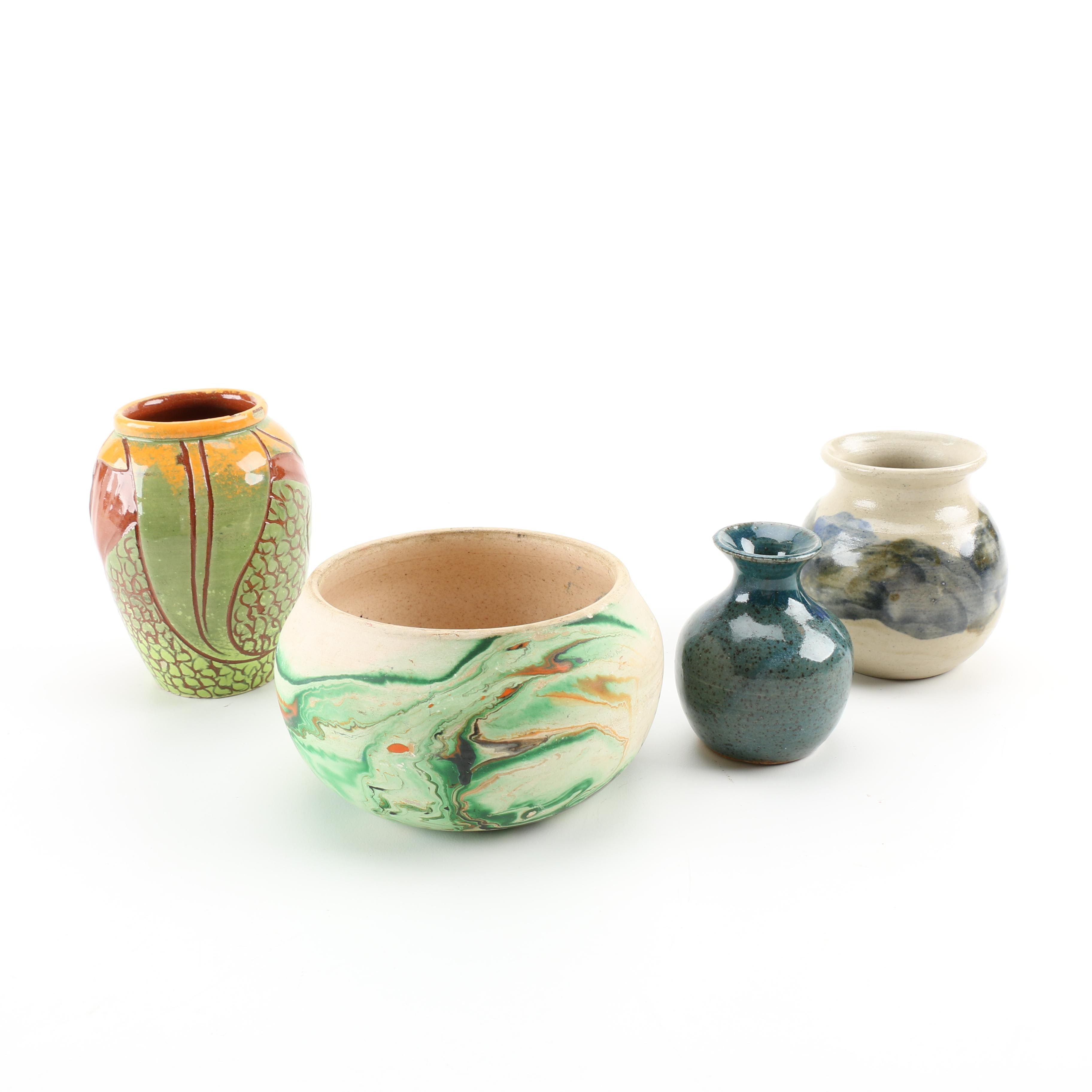 Art Pottery Vases Featuring Nemadji