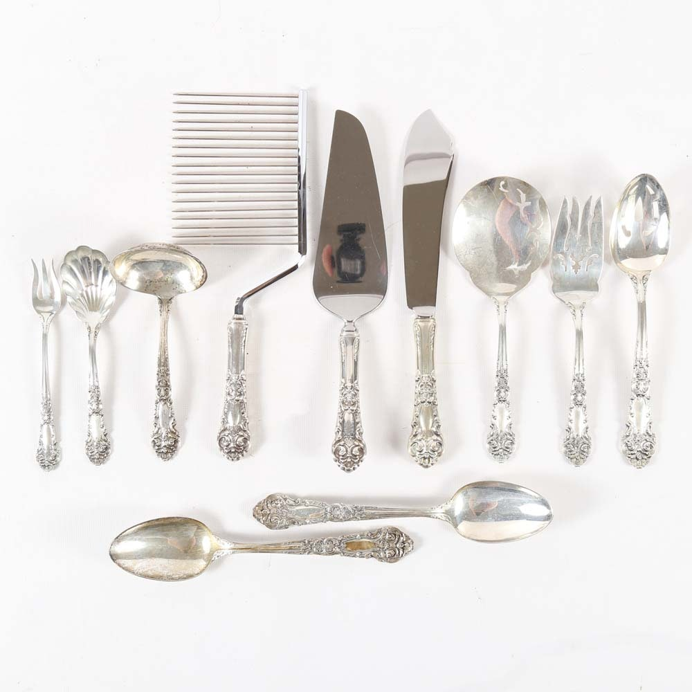 """Reed & Barton """"French Renaissance"""" Sterling Silver Serving Utensils"""