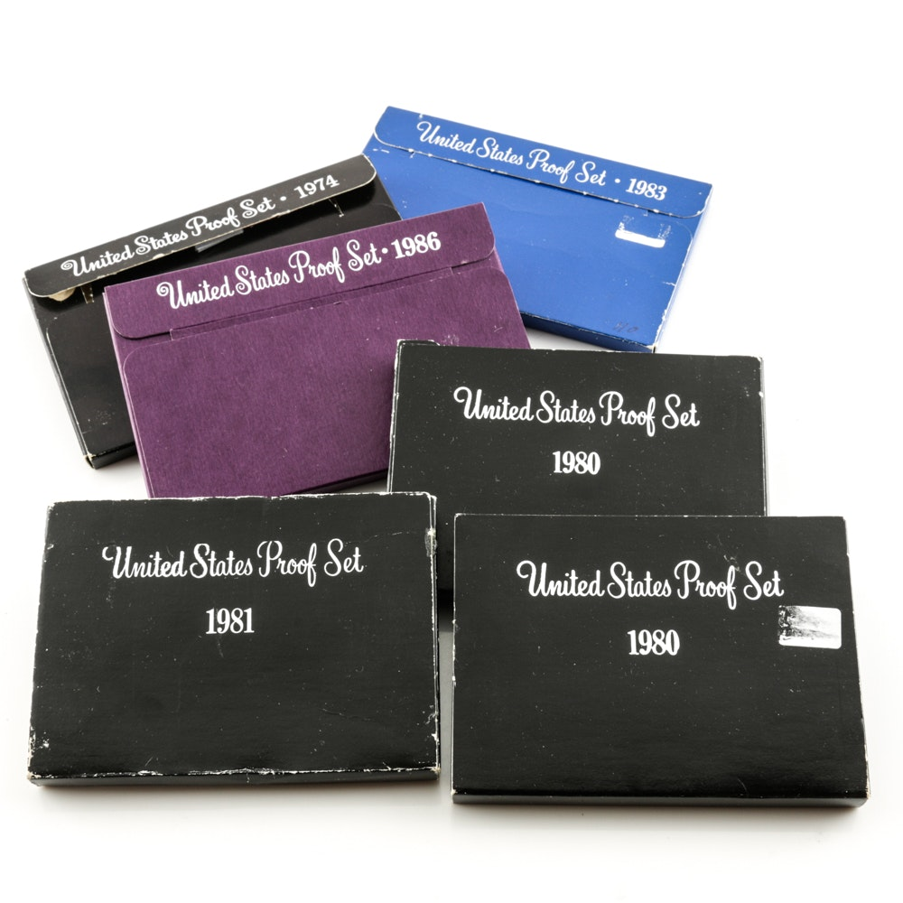 Six U.S. Mint Proof Sets