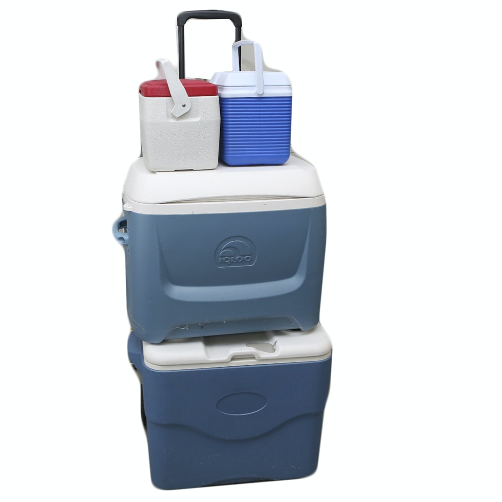 Grouping of Four Coolers