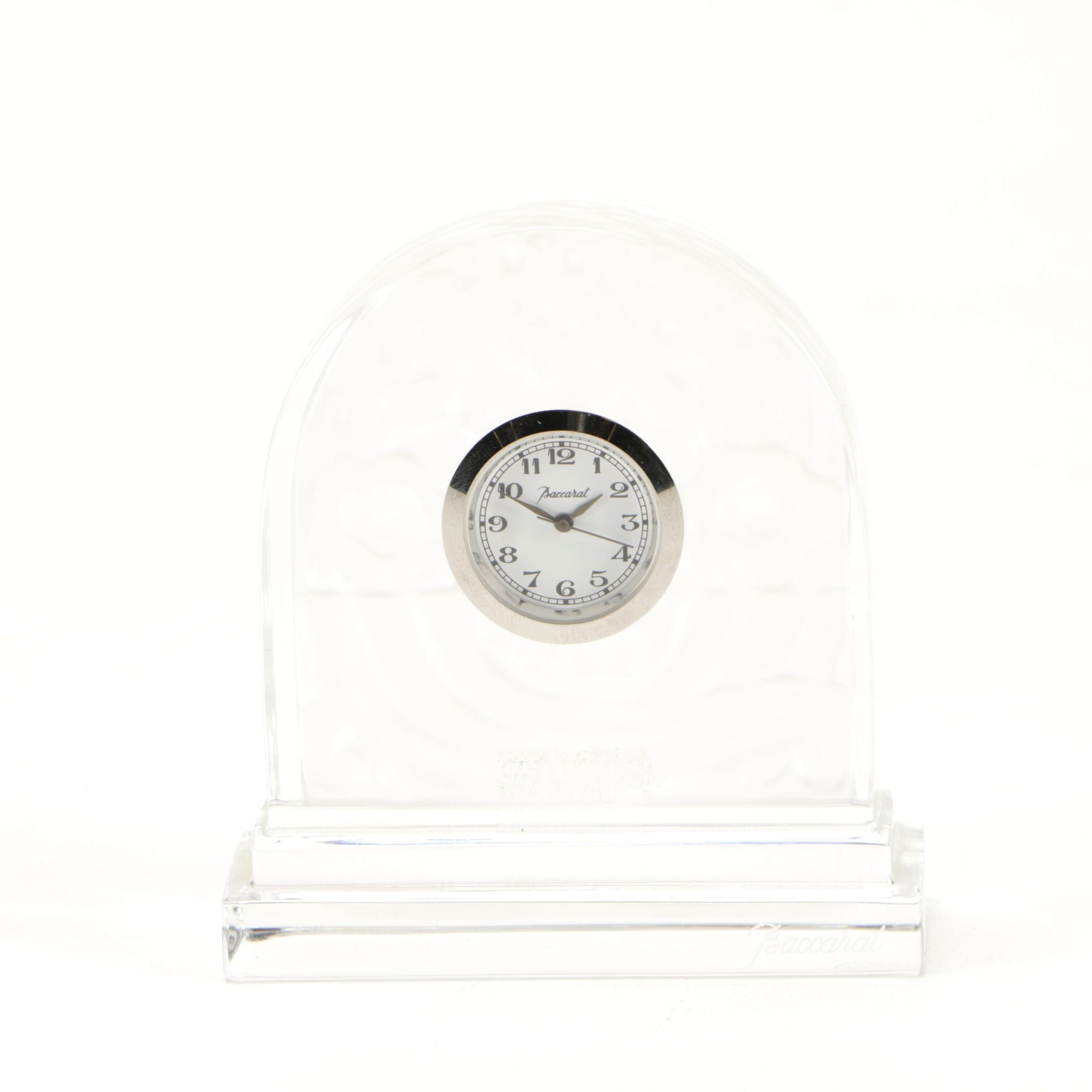Baccarat Crystal Desk Clock