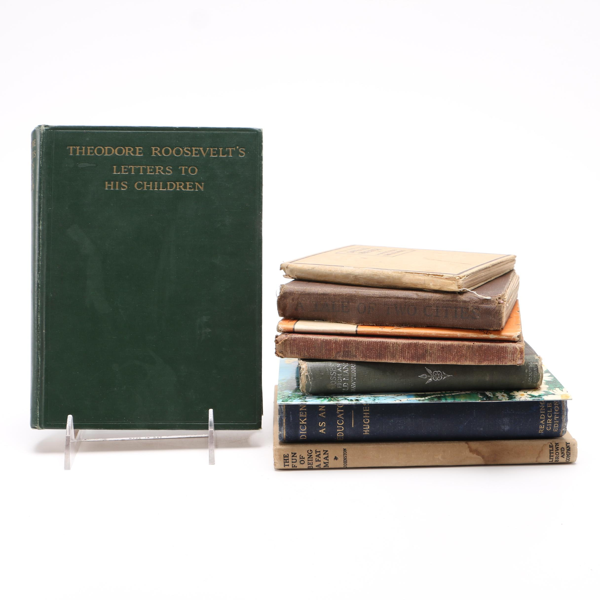 """Assorted Vintage and Antique Books Including 1917 """"Speak French: A Book for the Soldiers"""""""