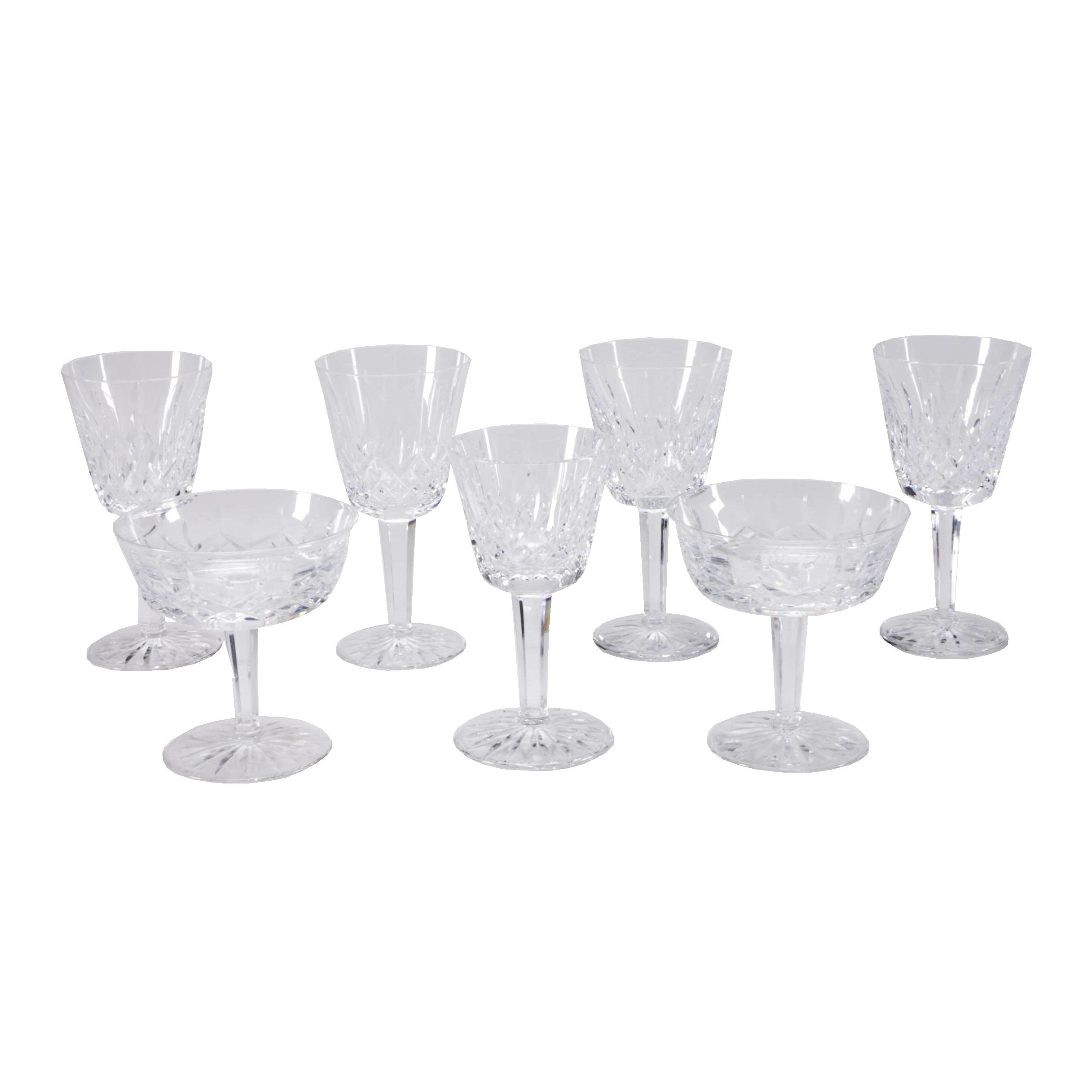 "Waterford ""Lismore"" Crystal Glasses"