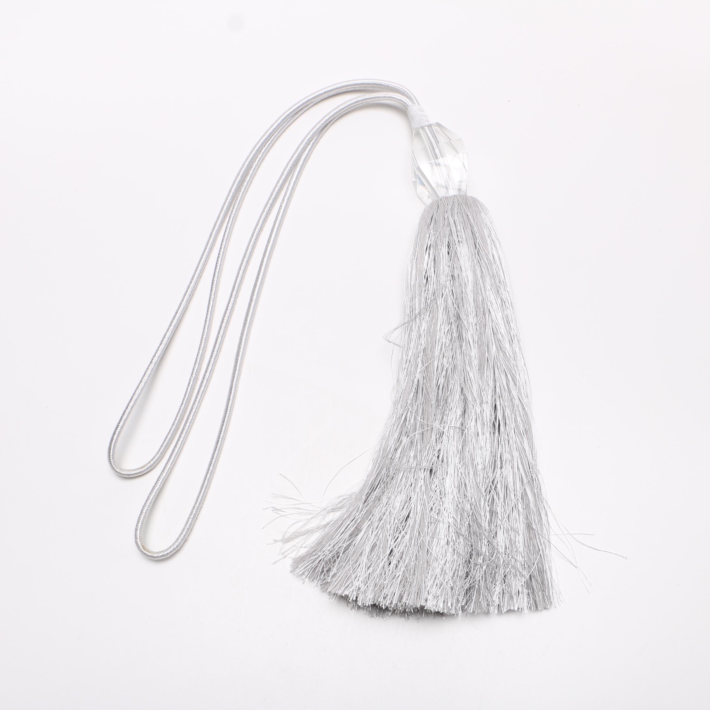 Silver Tone Tassel