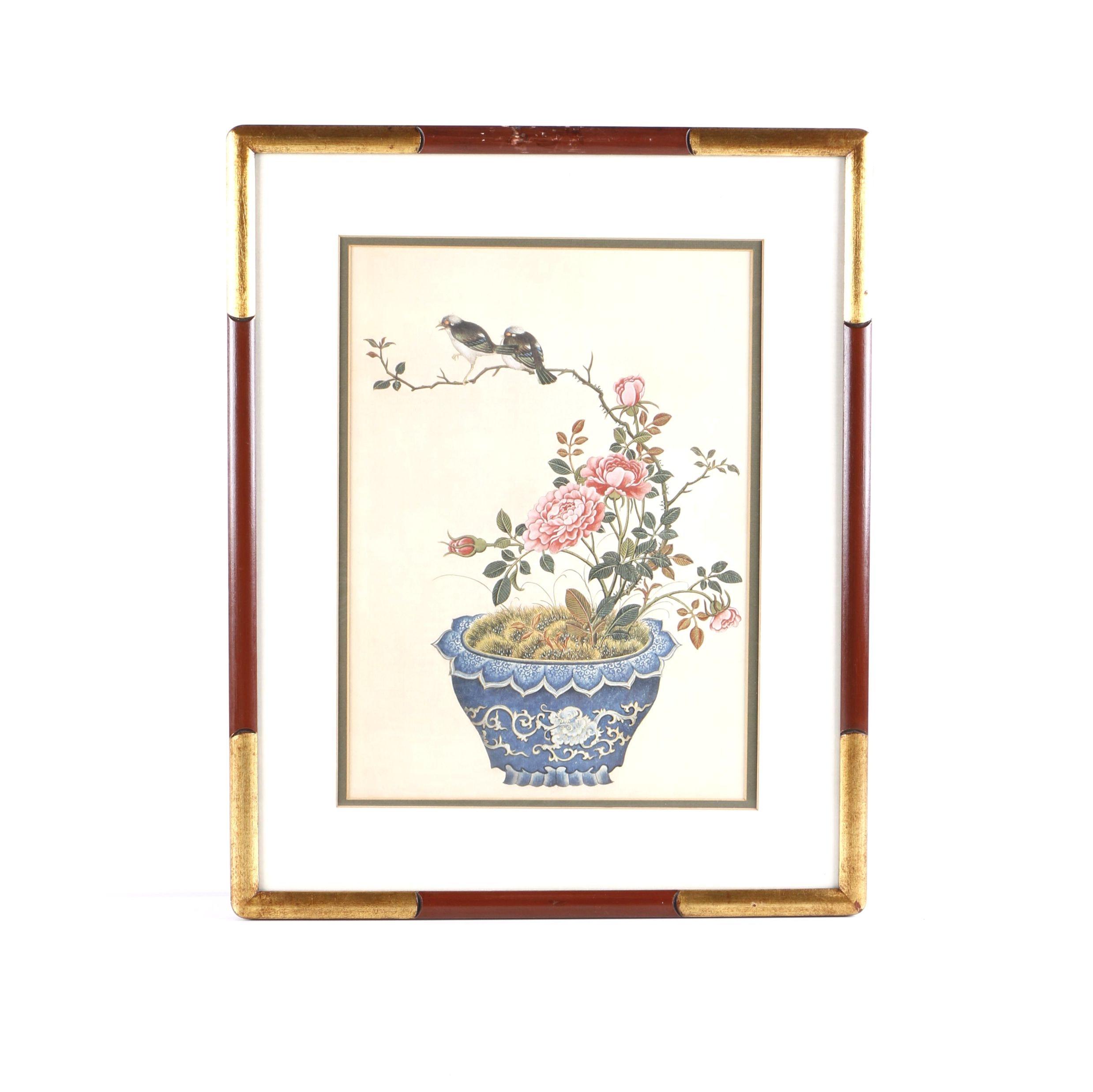 "Marad Wall Decor Corp Giclee Print ""Flowers & Birds"""