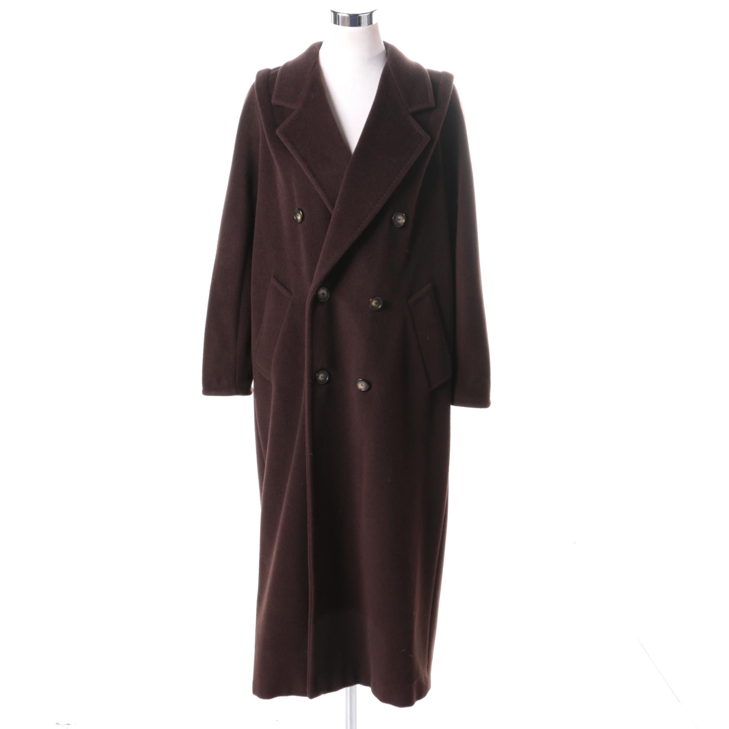 Max Mara Wool and Cashmere Blend Coat