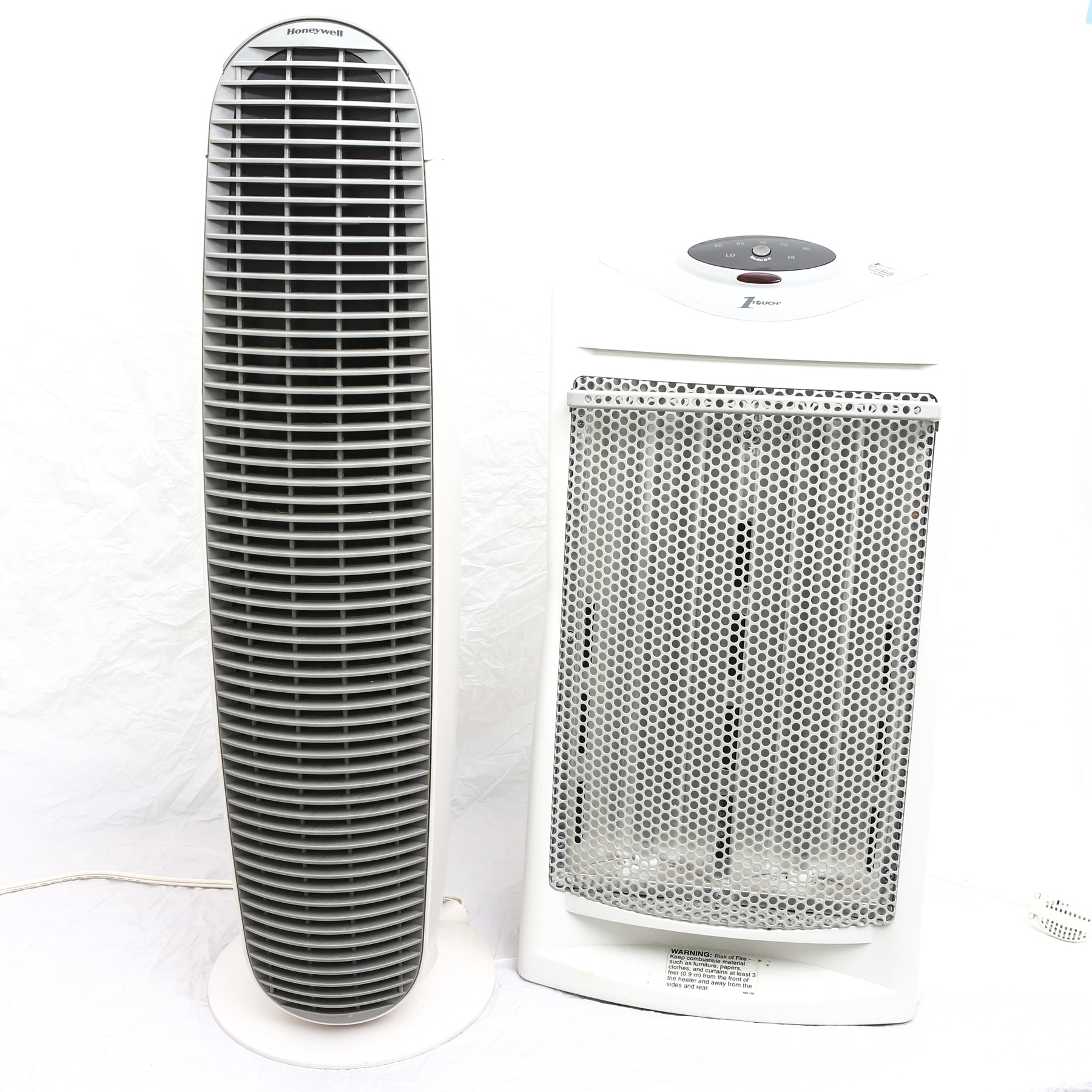 Honeywell Air Purifier and Holmes 1 Touch Space Heater