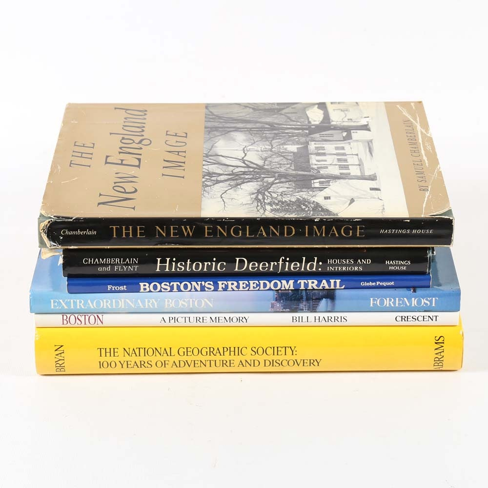 Collection of Boston Coffee Table Books