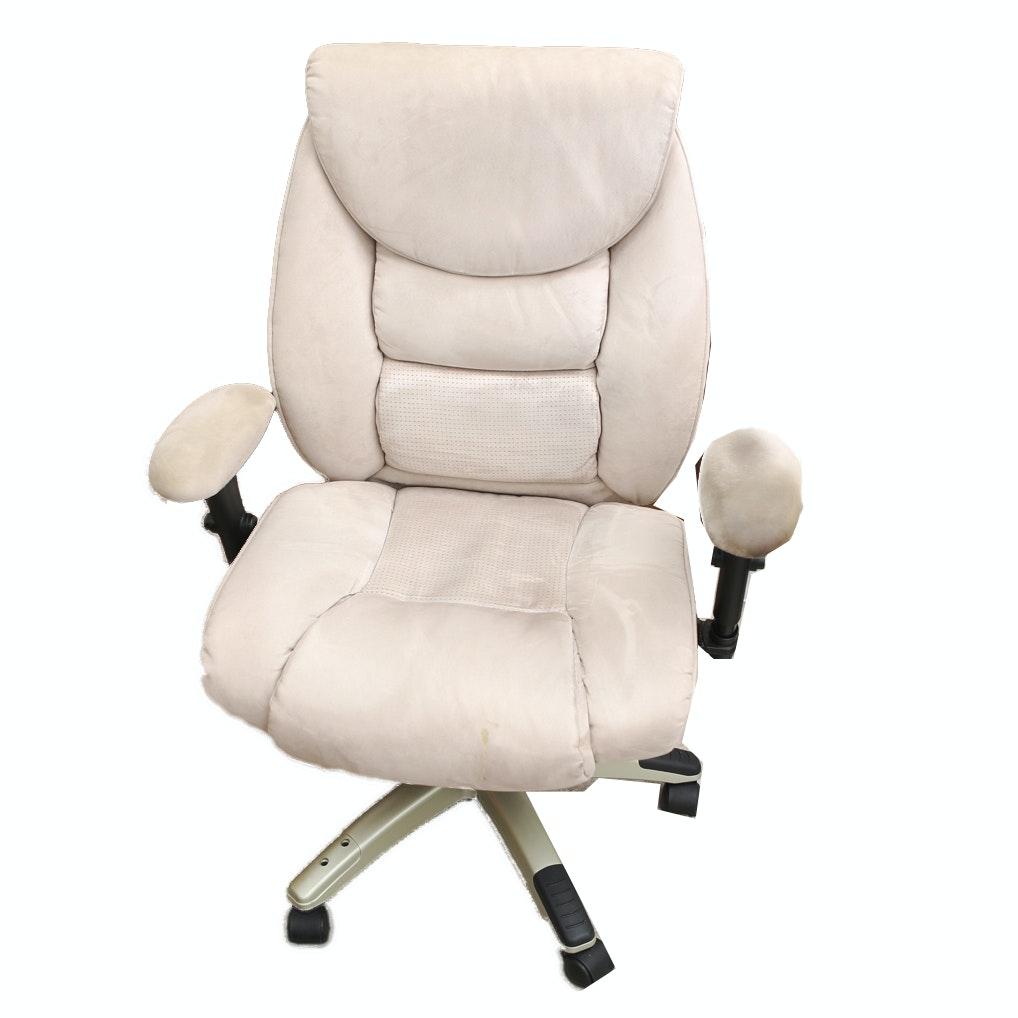 Tan Microsuede Office Chair
