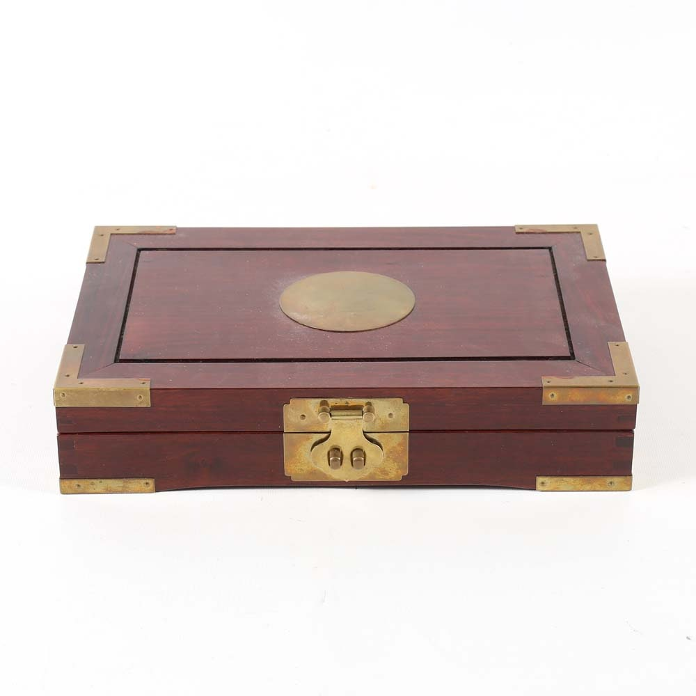 Fortune Hong Kong Wood and Brass Box