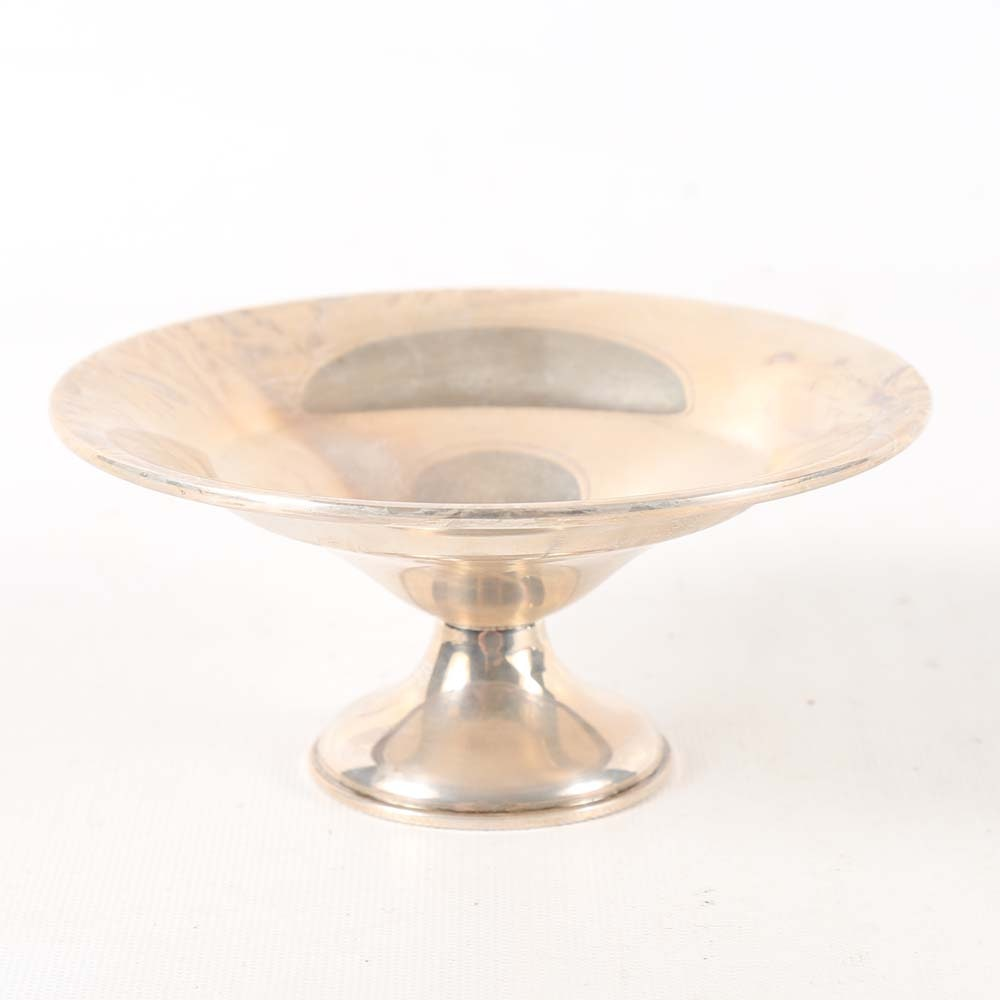 Reed & Barton Weighted Sterling Silver Round Pedestal Bowl