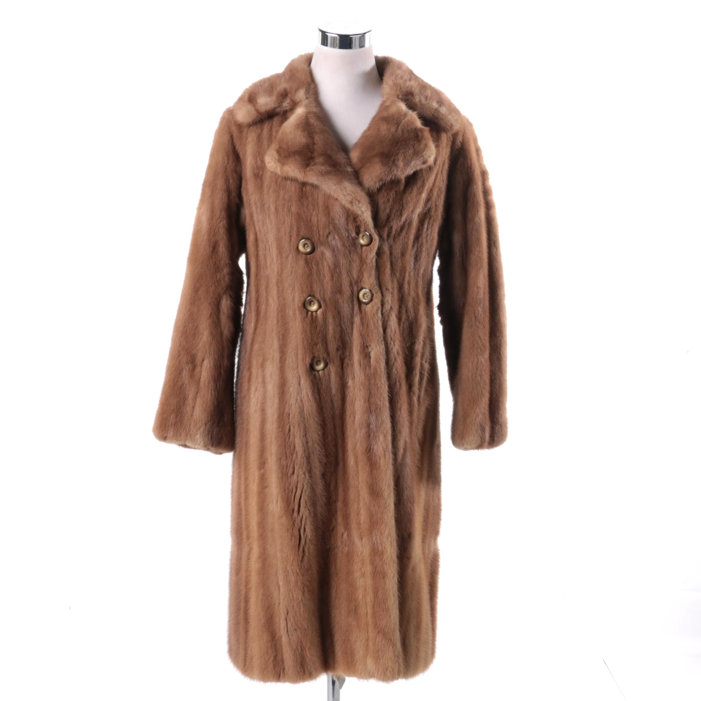 Women's Double Breasted Mink Fur Coat