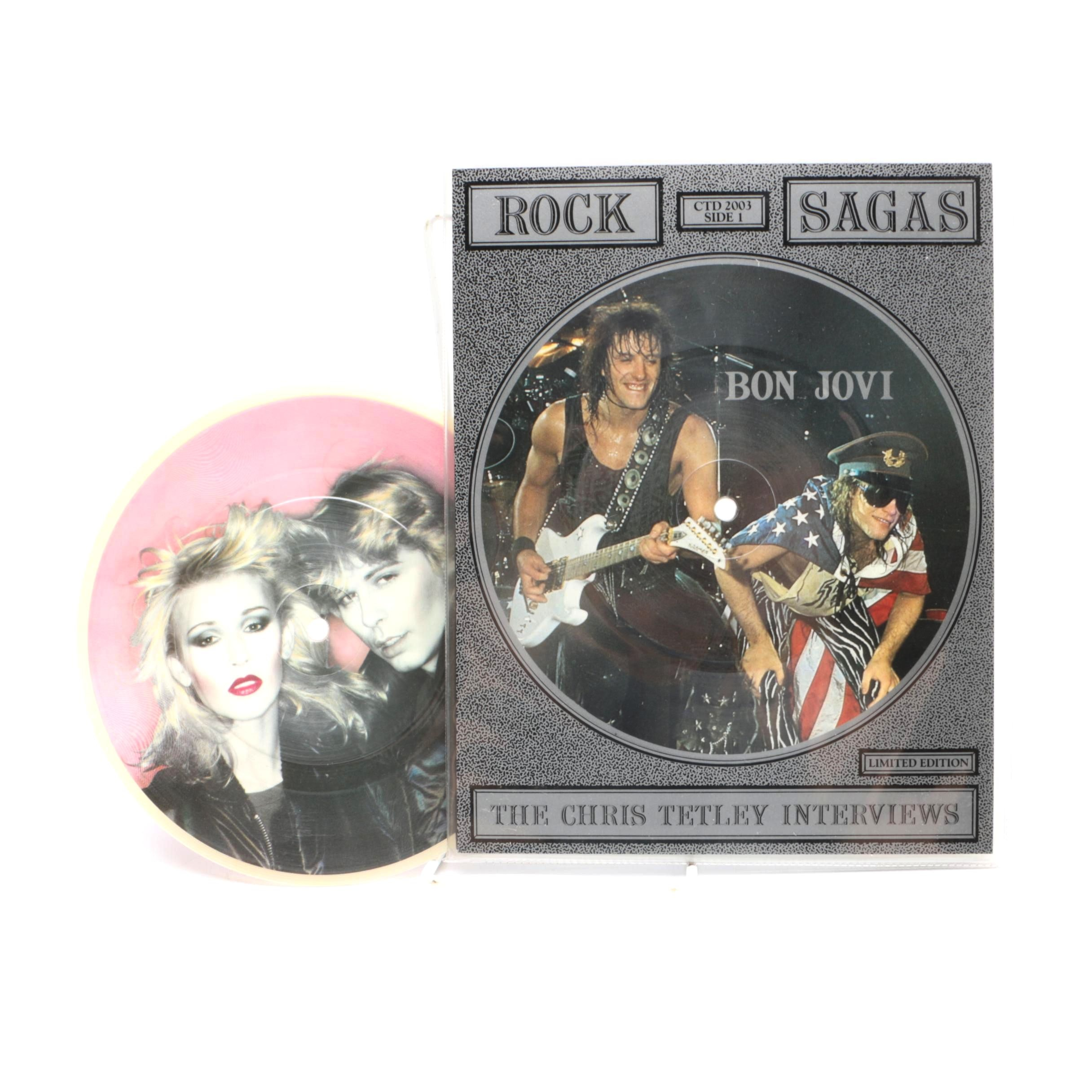 1980s Bon Jovi and Dollar Picture Discs