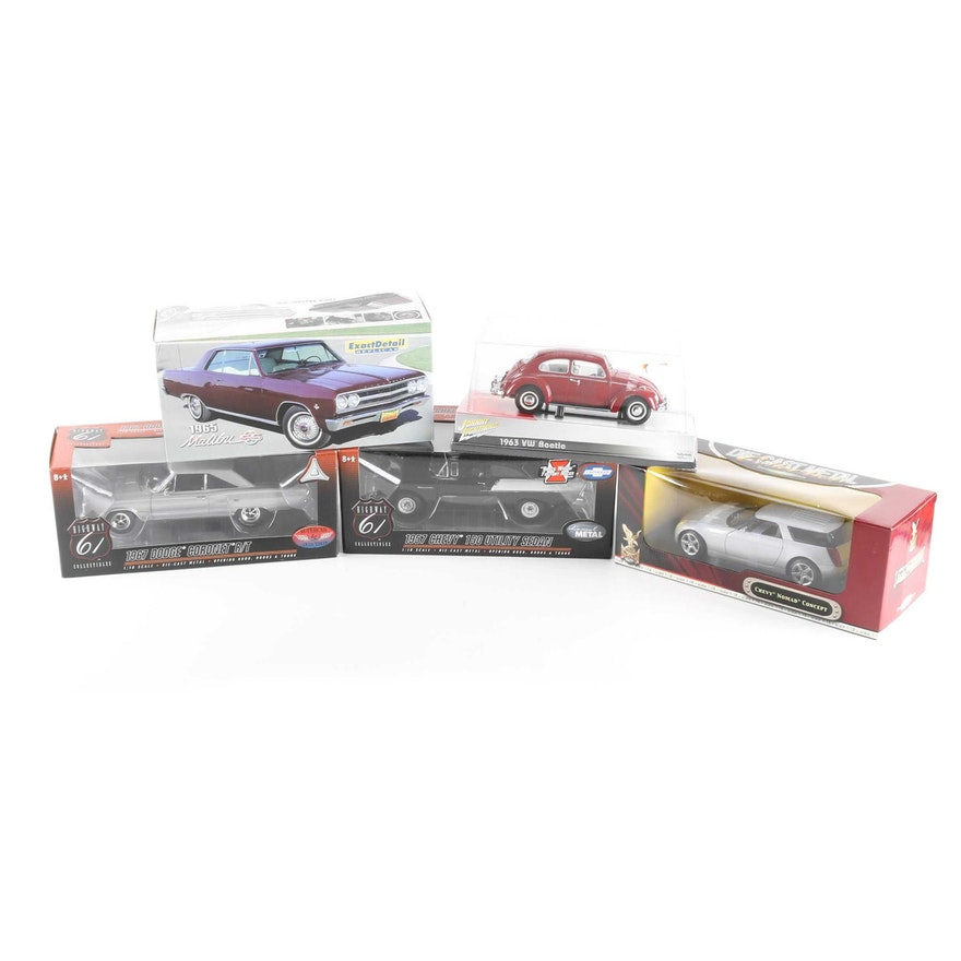 Collection of Five Die-Cast Cars