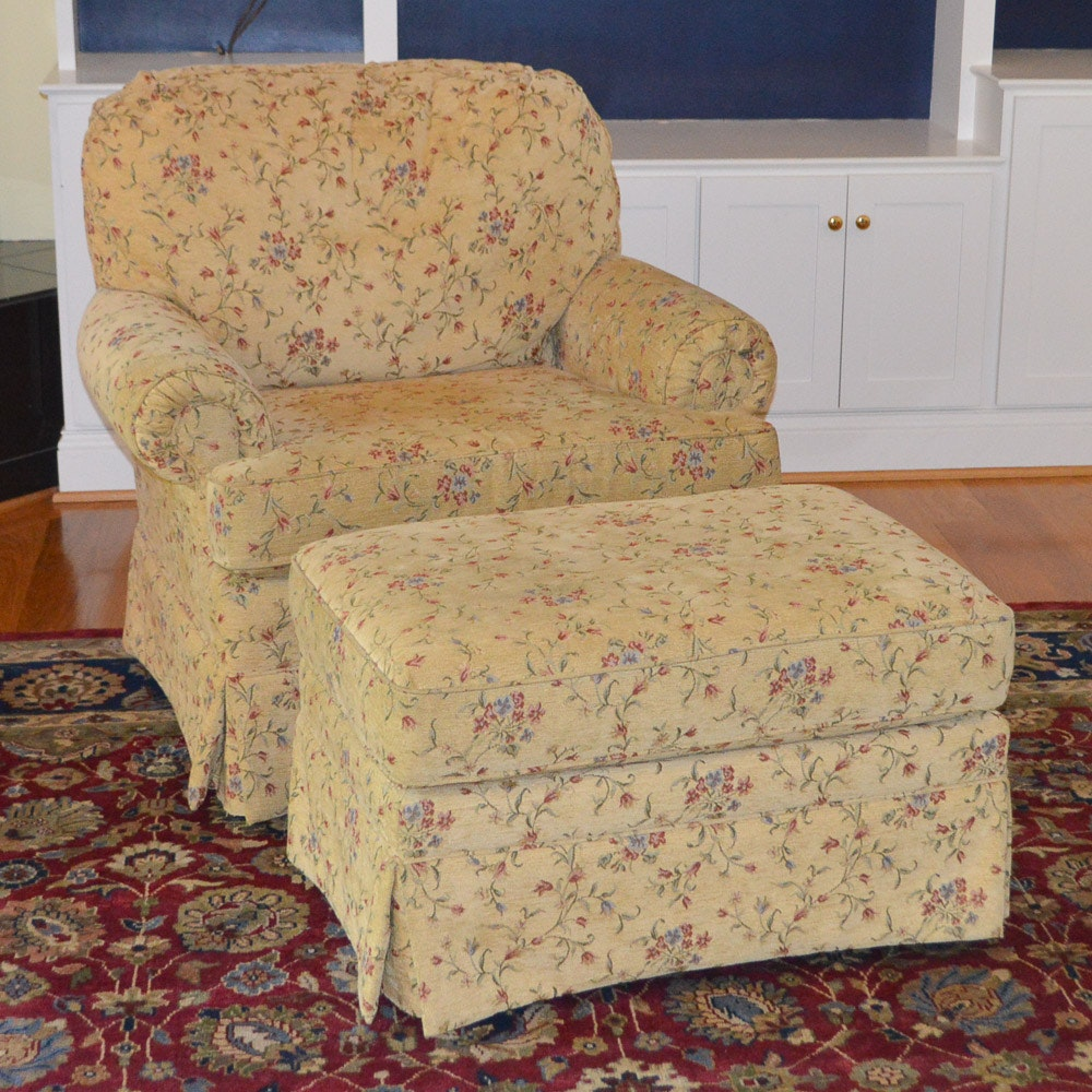 Upholstered Club Chair and Ottoman by Best Chairs, INC.