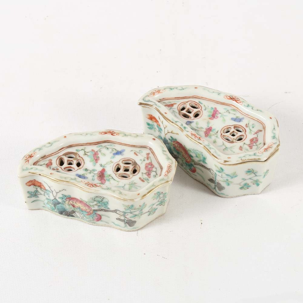 Chinese Porcelain Incense Holders