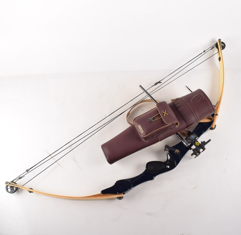 Hoyt Pro Medalist Archery Bow and Neet Traditions Quiver