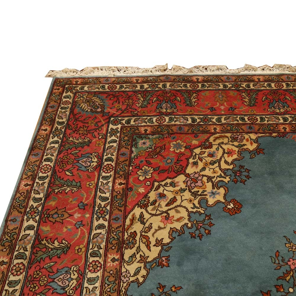 Power Loomed Kashan Style Area Rug