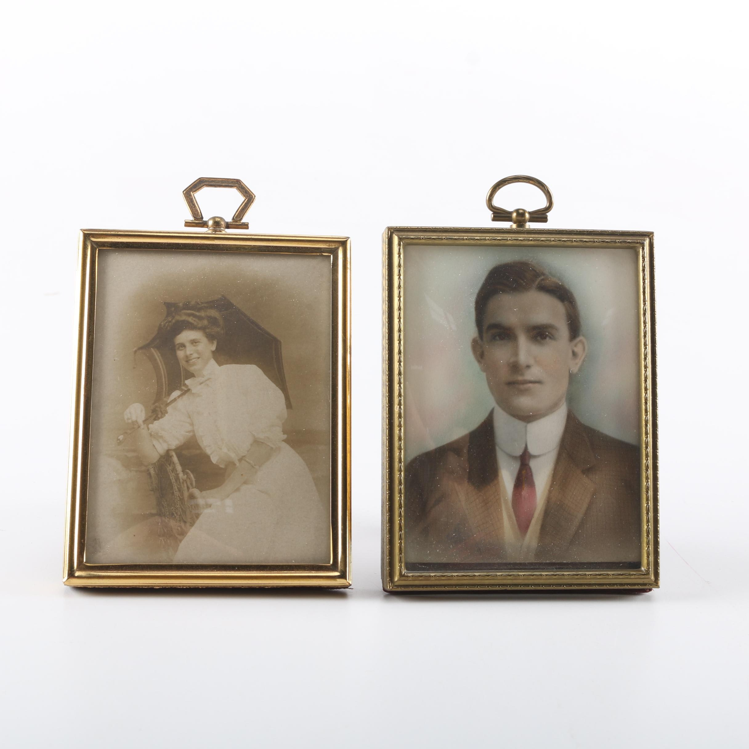 Brass Picture Frames With Photographs