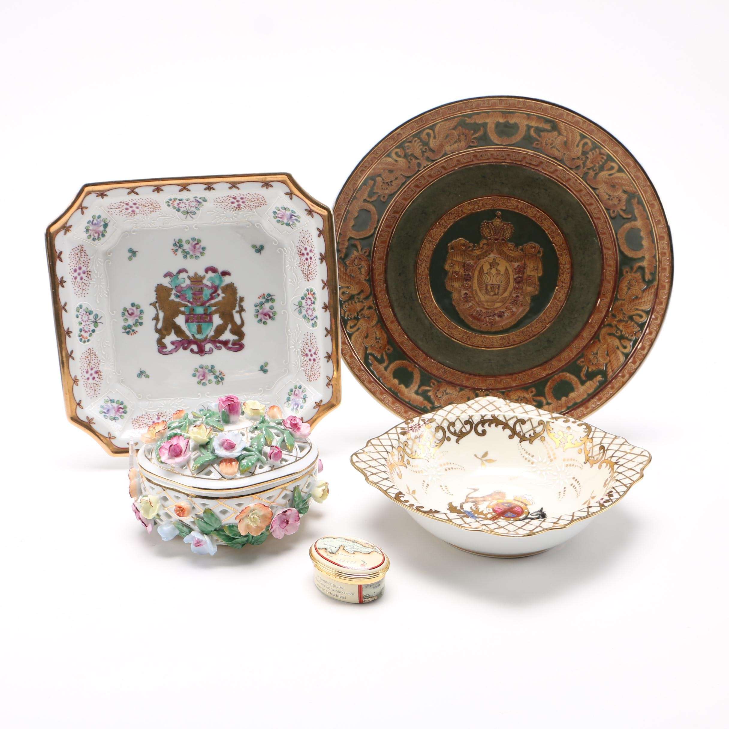 Decorative Plates and Trinket Boxes