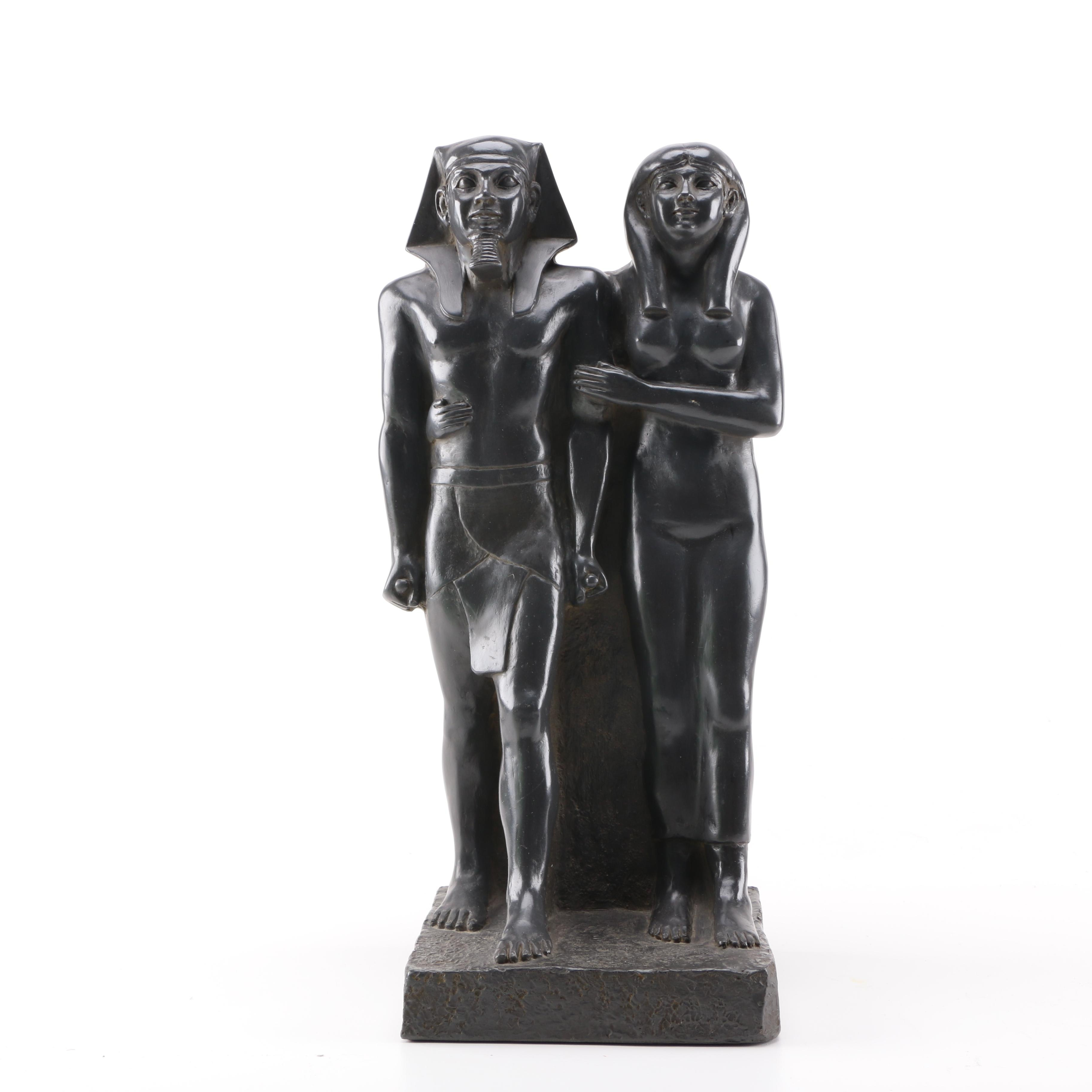 Reproduction Pharaoh Mycerinus and Queen Khamerernebty Statue