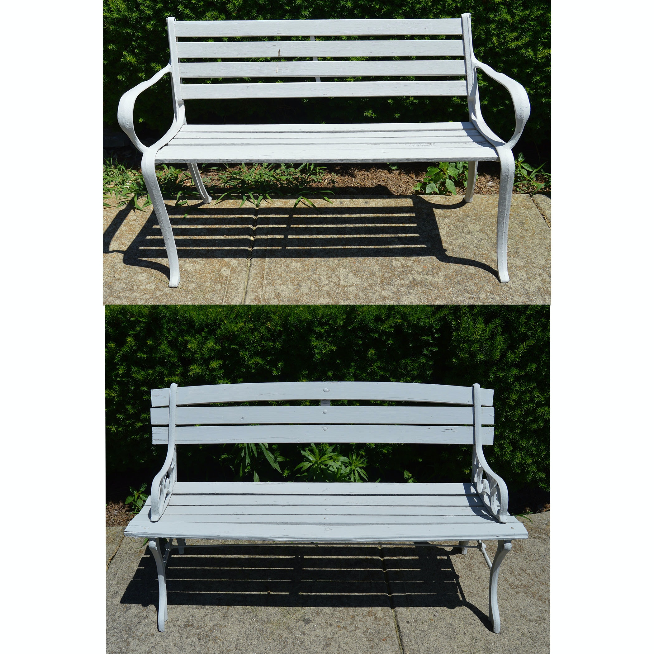A Pair of Project Piece Wooden Benches