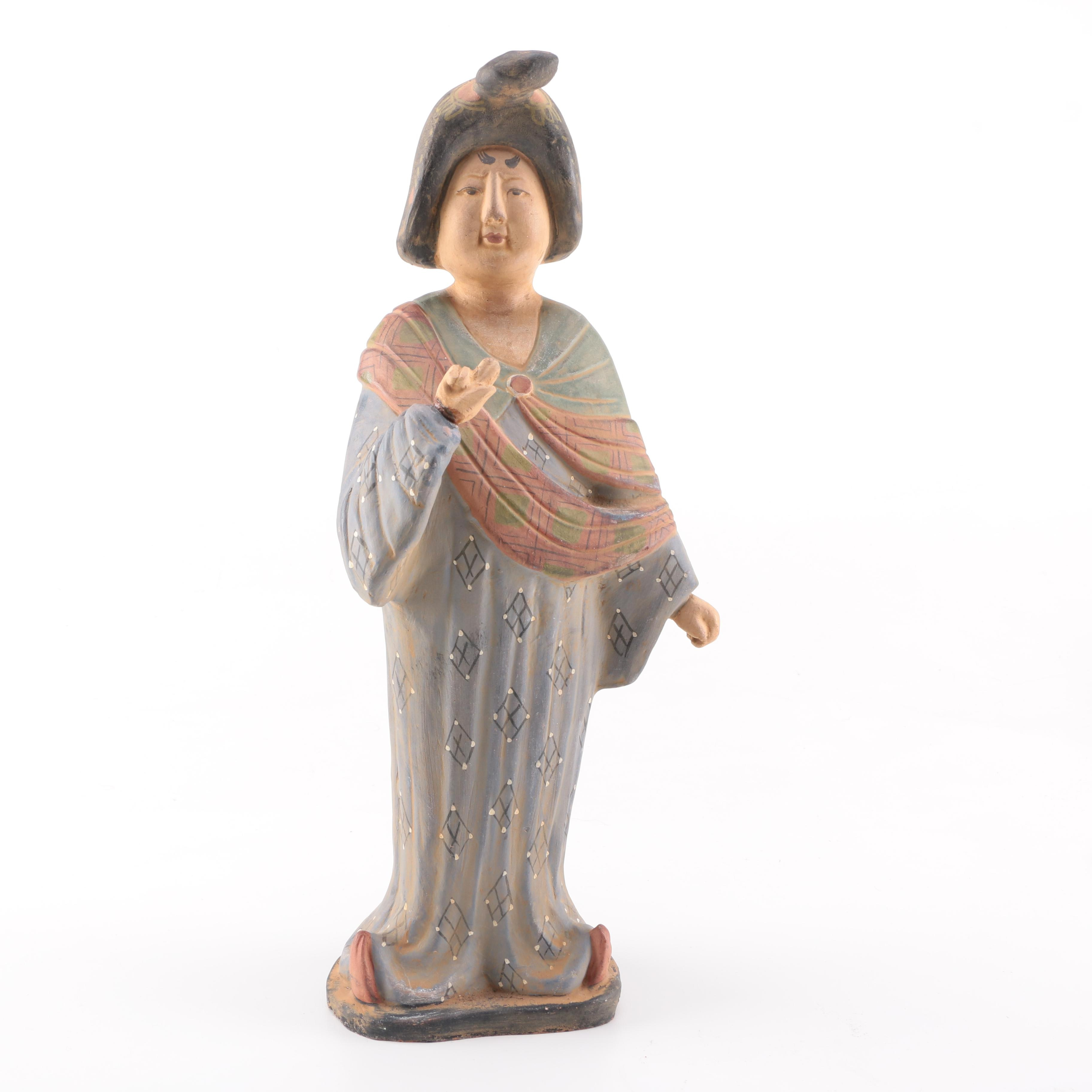 Tang Style Clay Female Figure