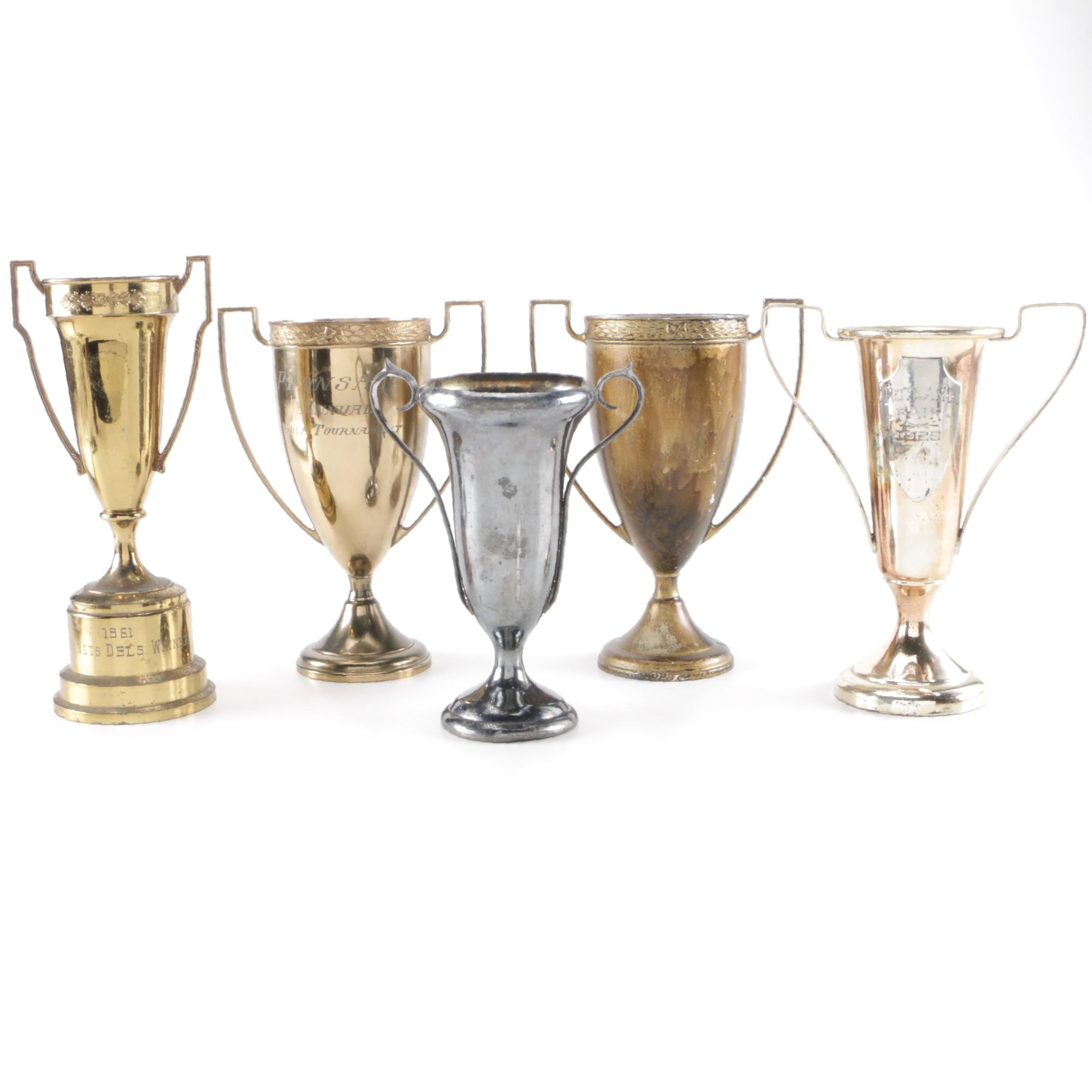 Five Brass and Base Metal Trophies