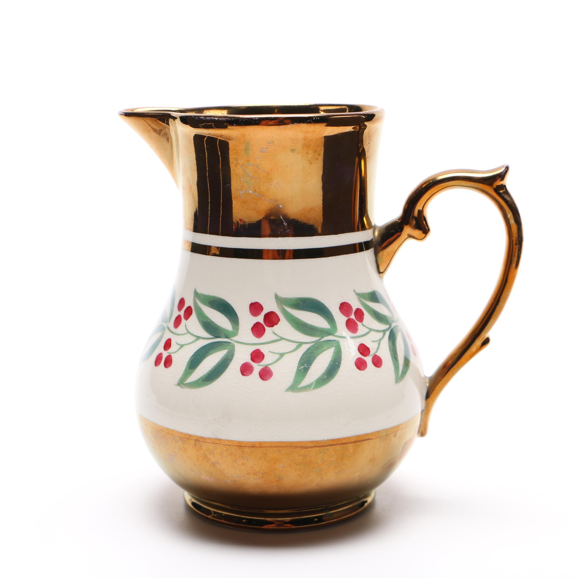 Vintage Wade Ceramic Lusterware Pitcher From England