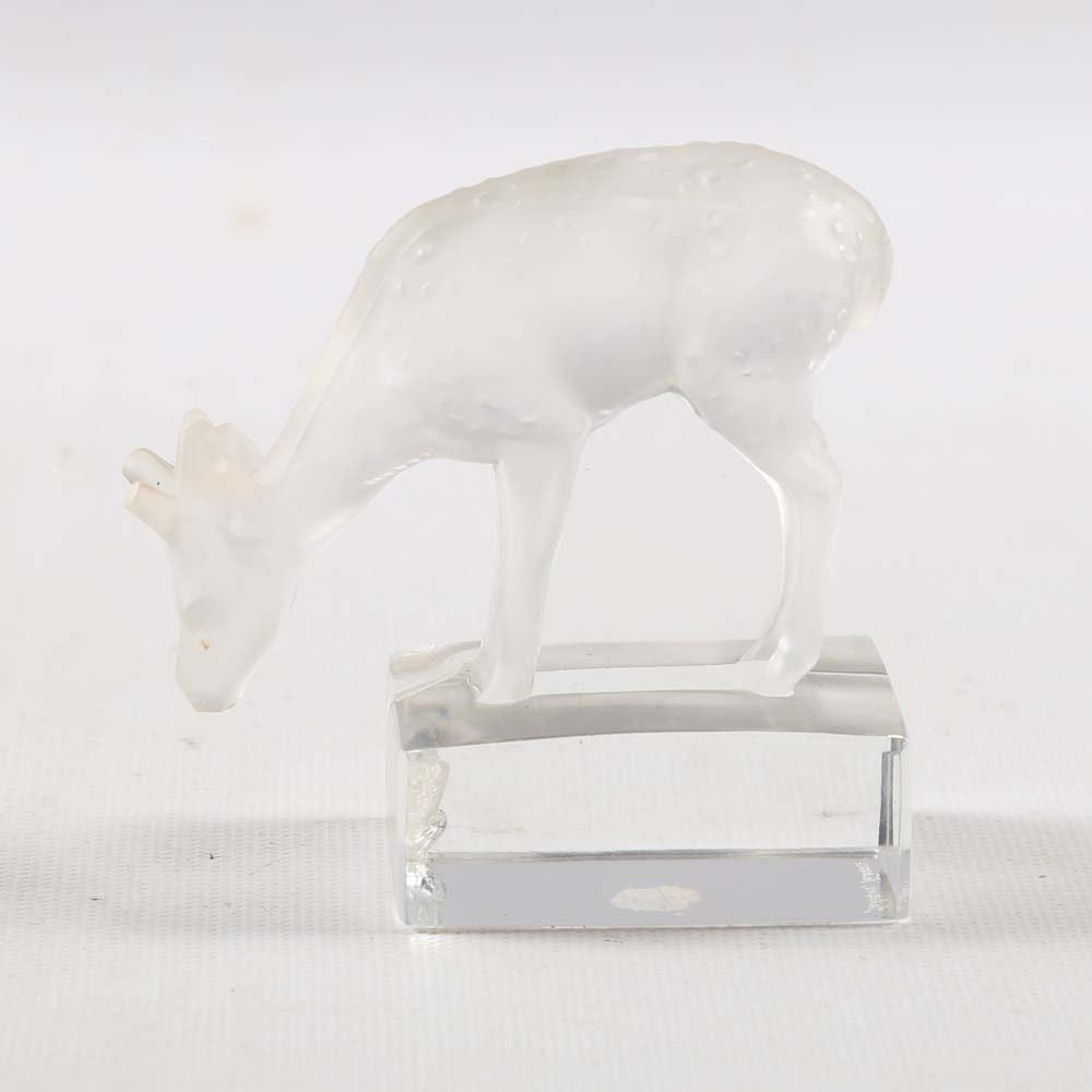 Lalique Crystal Deer Figurine